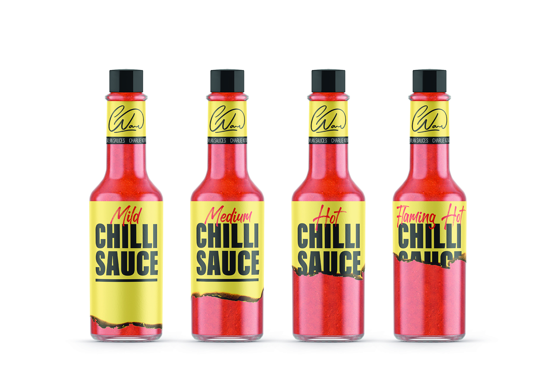 Pencil Turn Up the Heater to Chilli Sauce Packaging