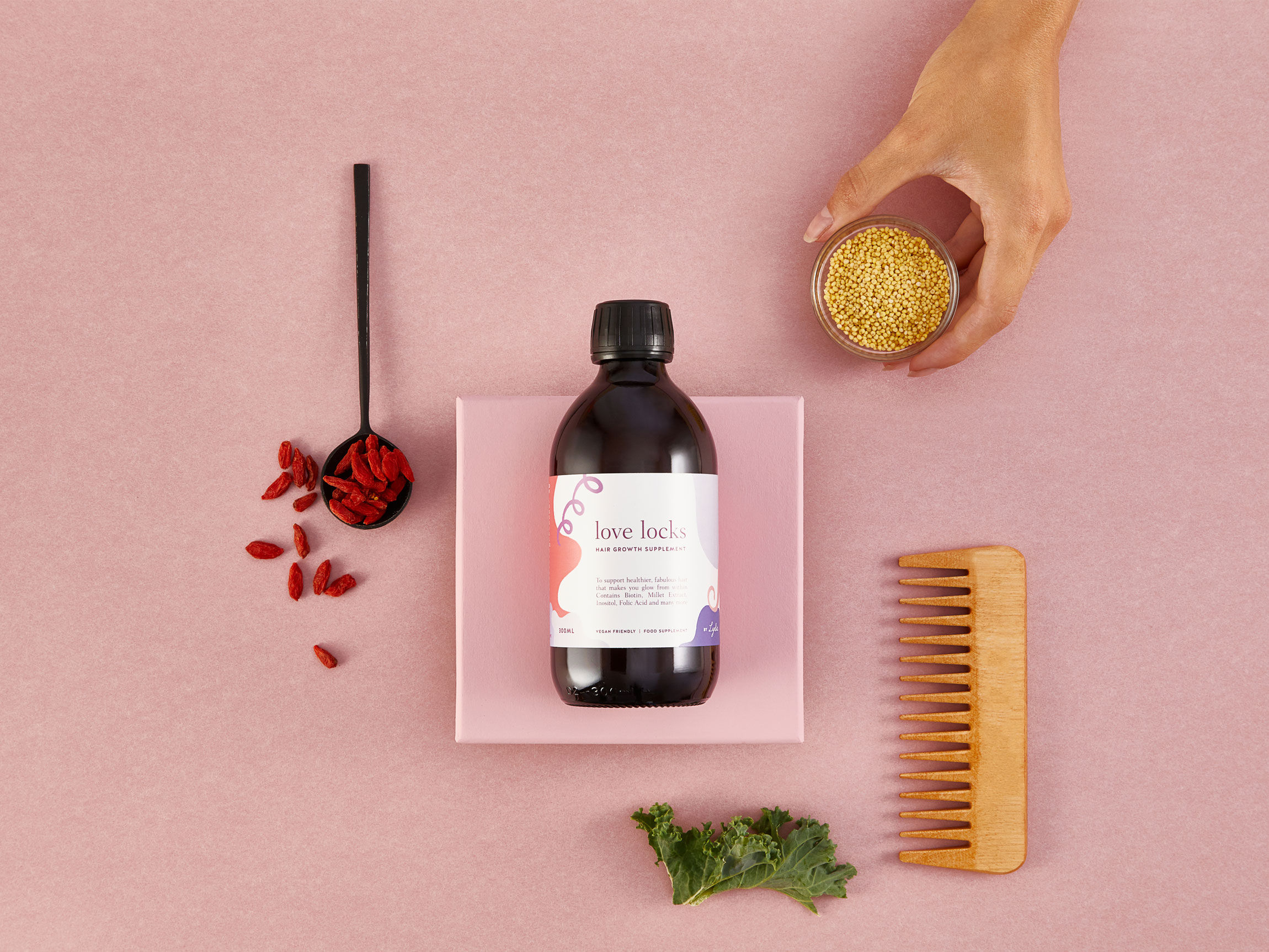 A Luscious Brand Identity for a Hair Supplement That Helps Women to Feel Good