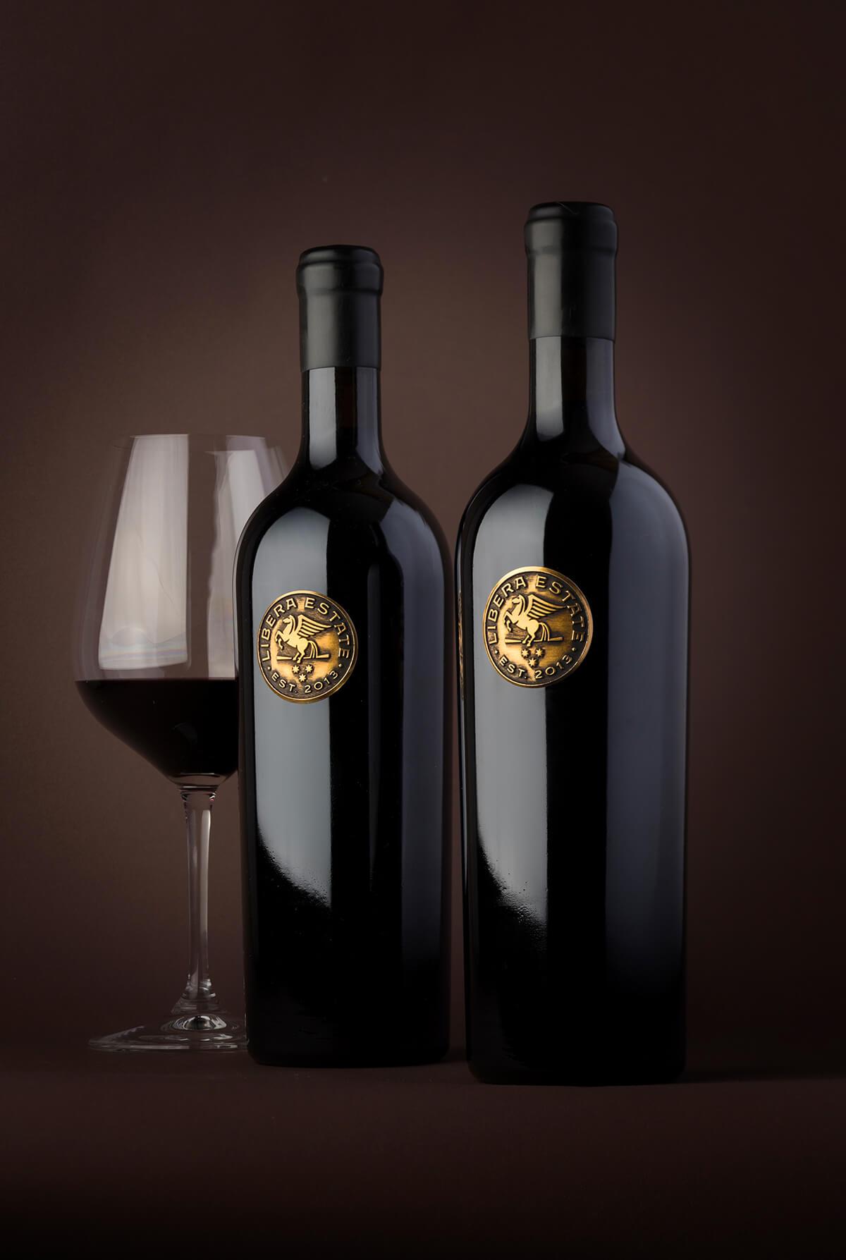 Custom Metal Wine Label Design by the Labelmaker