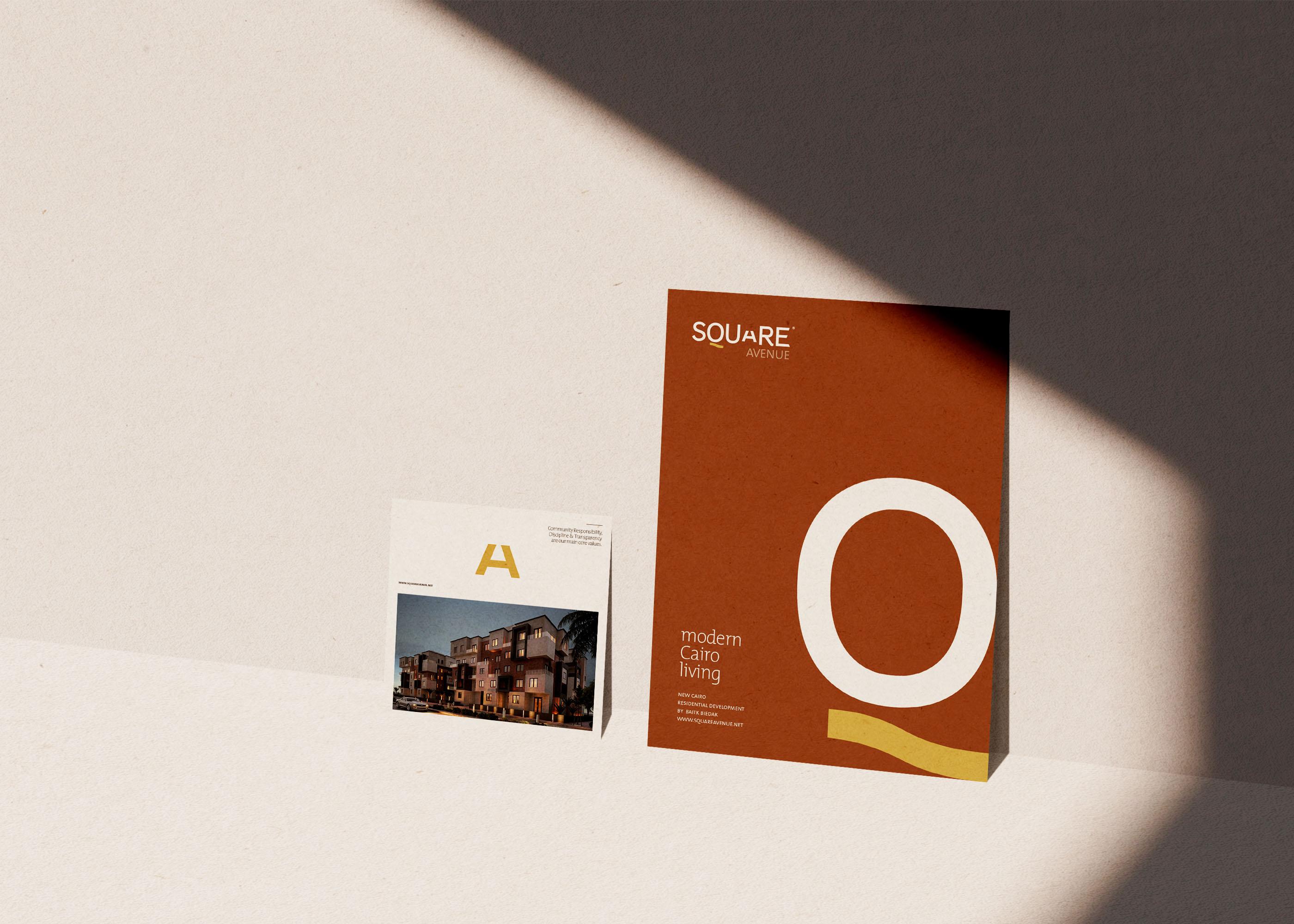 Visual Identity & Editorial Design for 'SQUARE AVENUE' Residential Development
