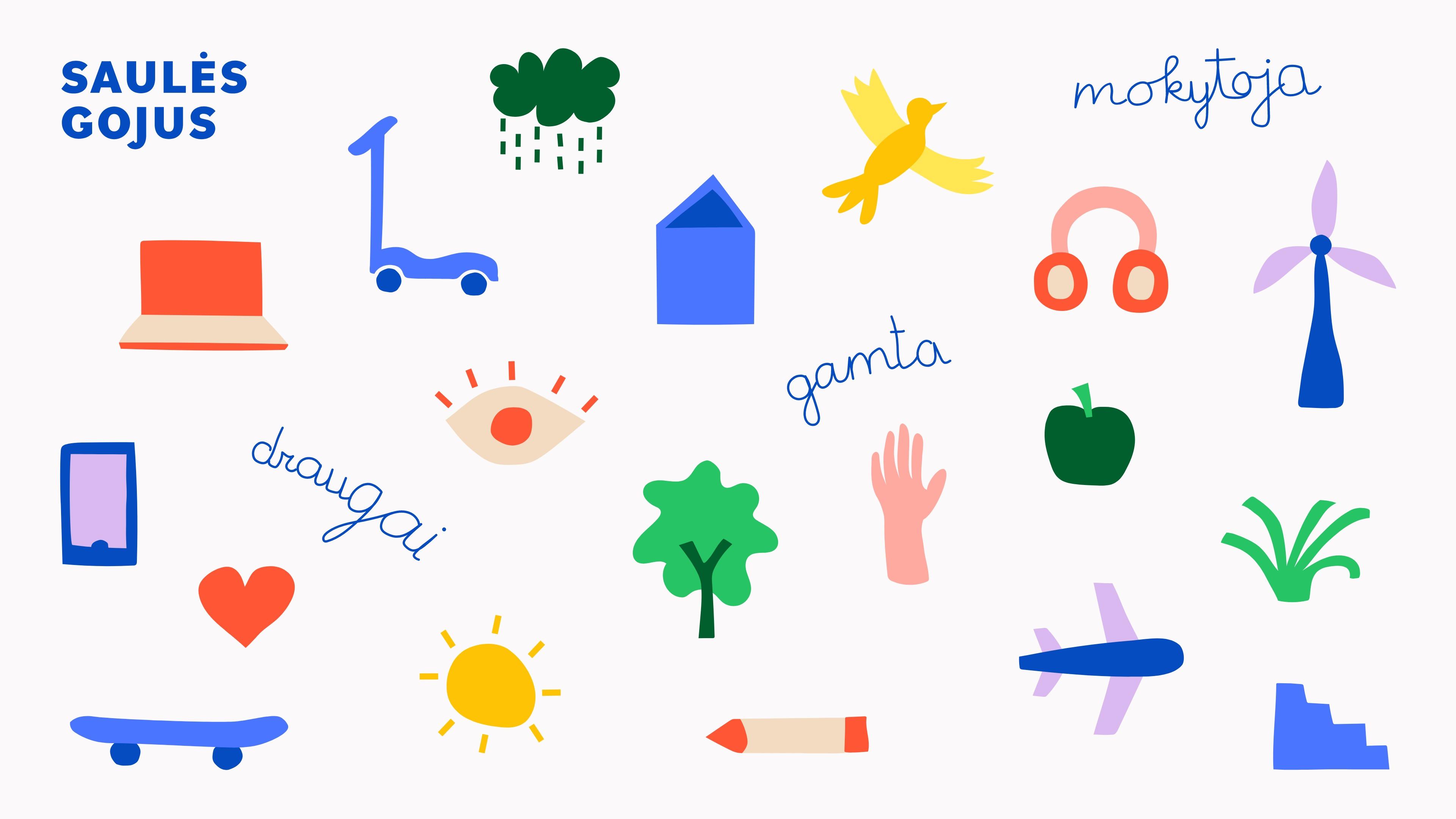 """""""Saules Gojus"""" Kindergarten and School Branding"""