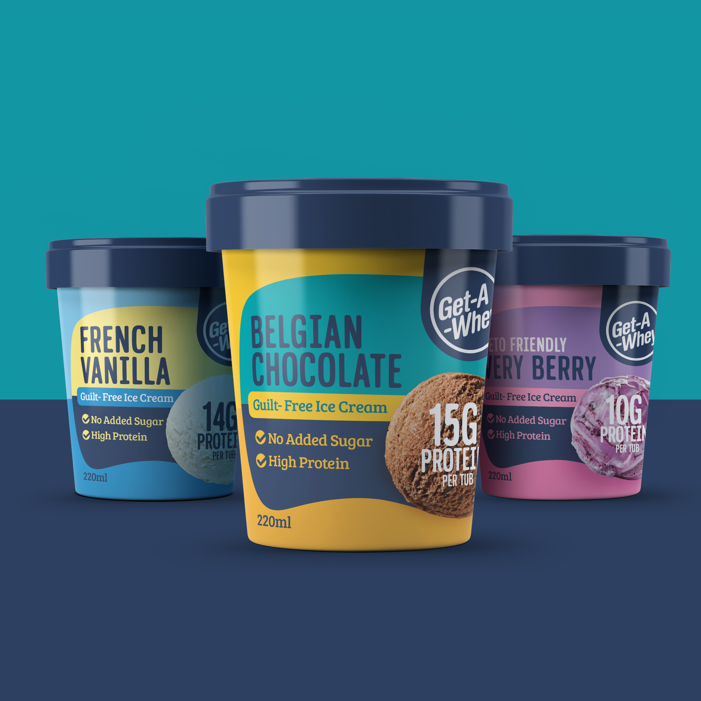 Branding and Packaging Redesign for a Protein Ice Cream Brand