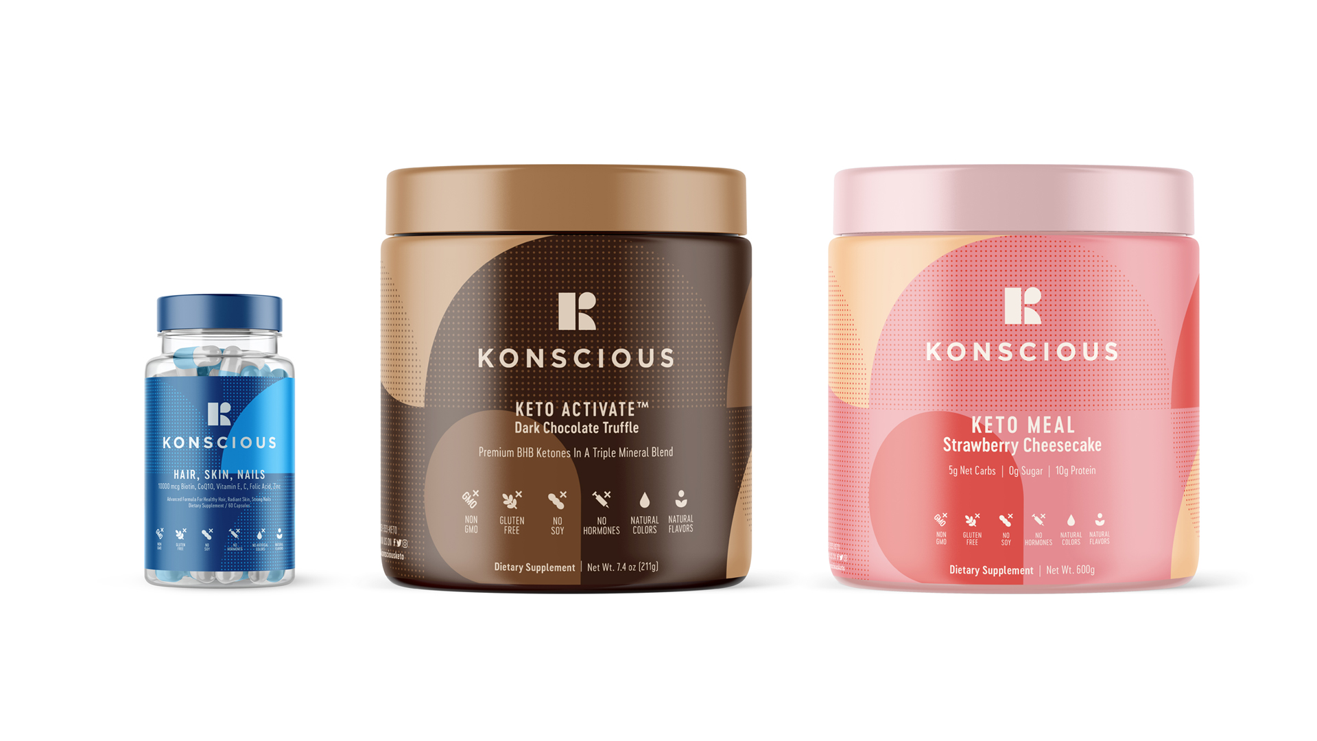 Packaging Design for Konscious Keto Desserts
