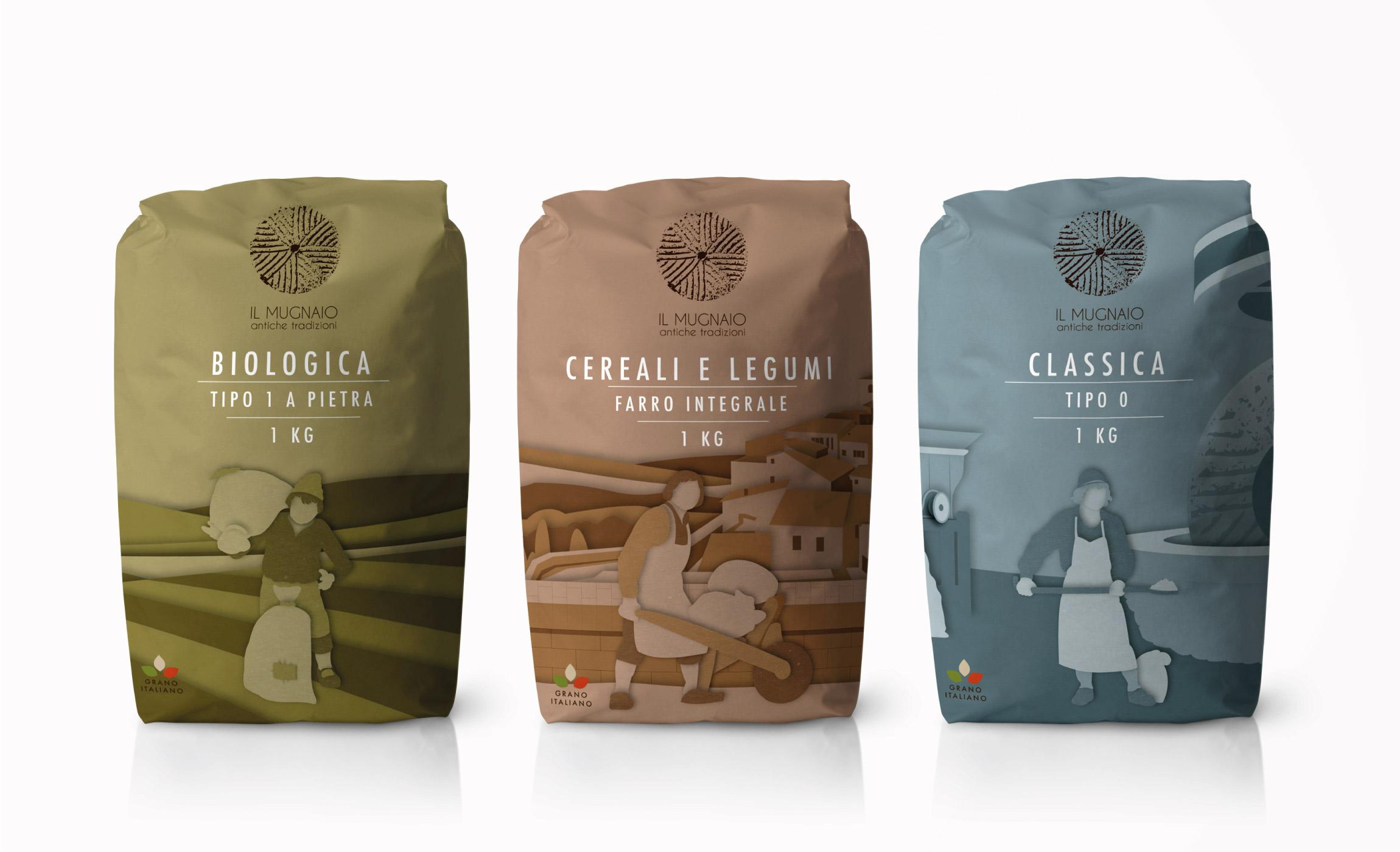 Agency Design Created New Logo and Packaging Il Mugnaio Flour