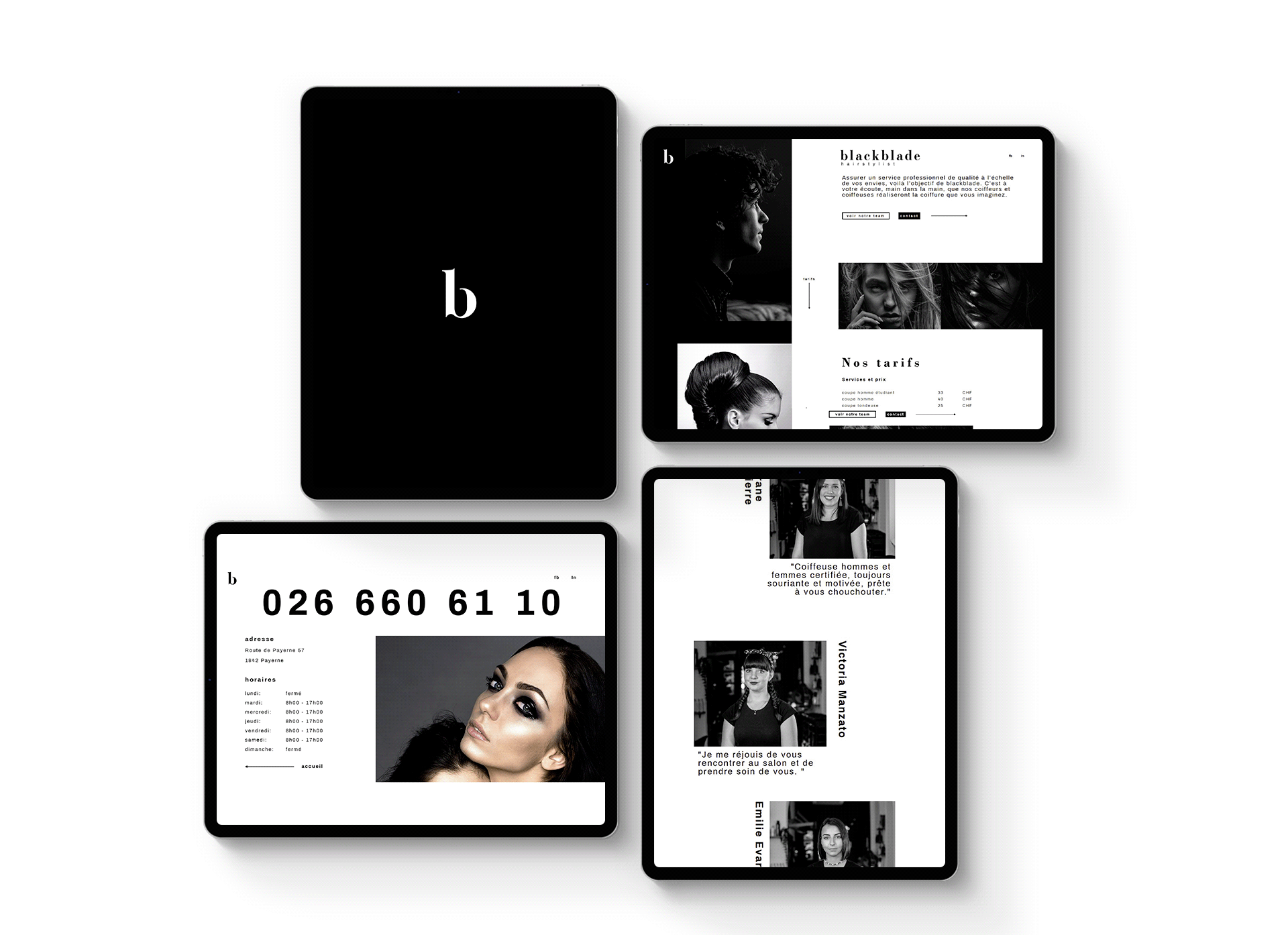 Design Agency Create Blackblade Hairstylist New Branding