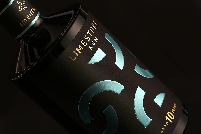 Inverroche Limestone Rum: Minimalist Packaging Design Iconography