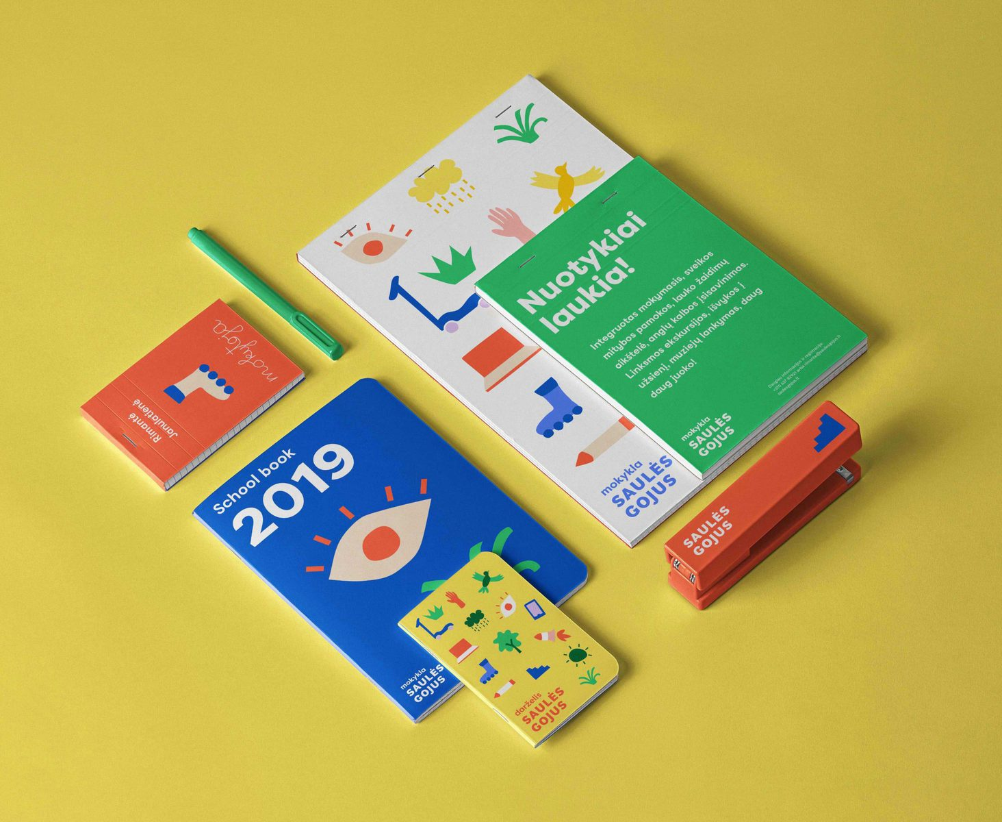 "IMAGINE Brand Identity Agency – ""Saules Gojus"" Kindergarten and School Branding"
