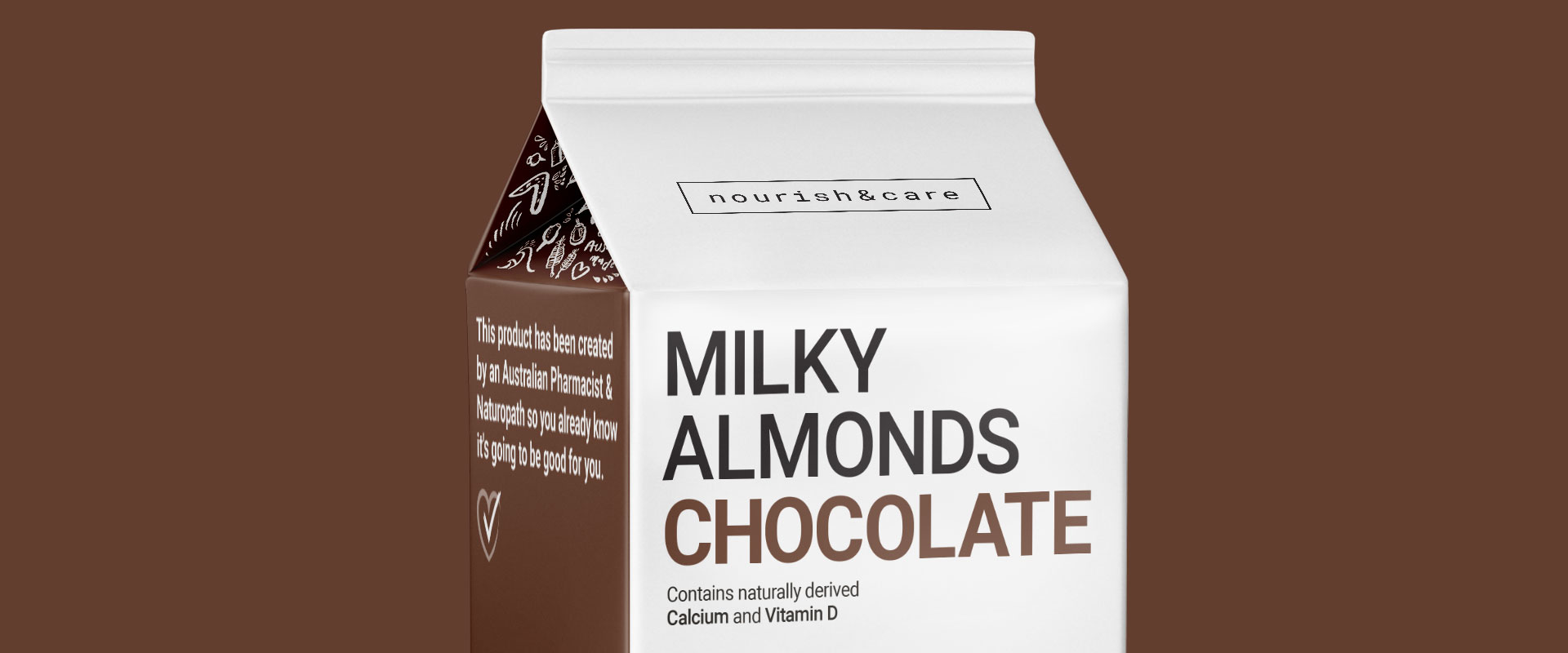 Milky Almonds Packaging Design