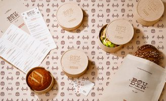 Boudin SF—Plastic Free Food Packaging by Yi Mao, ArtCenter College of Design