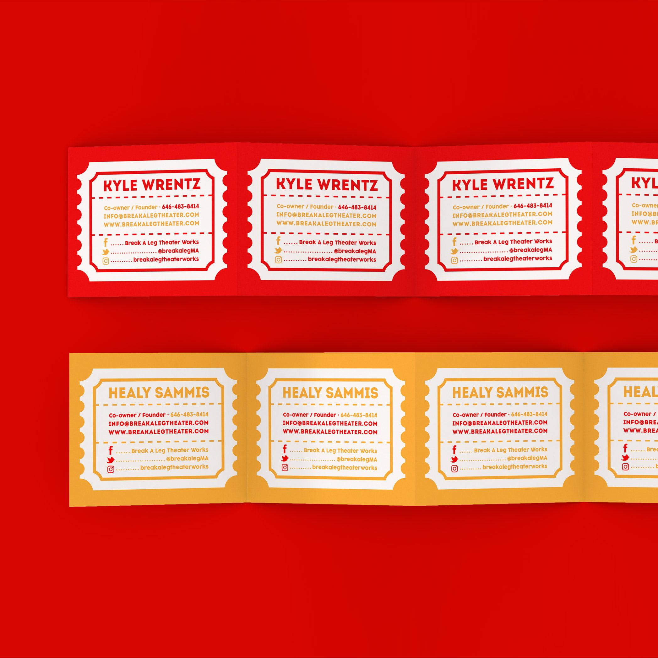 Riser Creates Identity Design For Break a Leg Theater Works