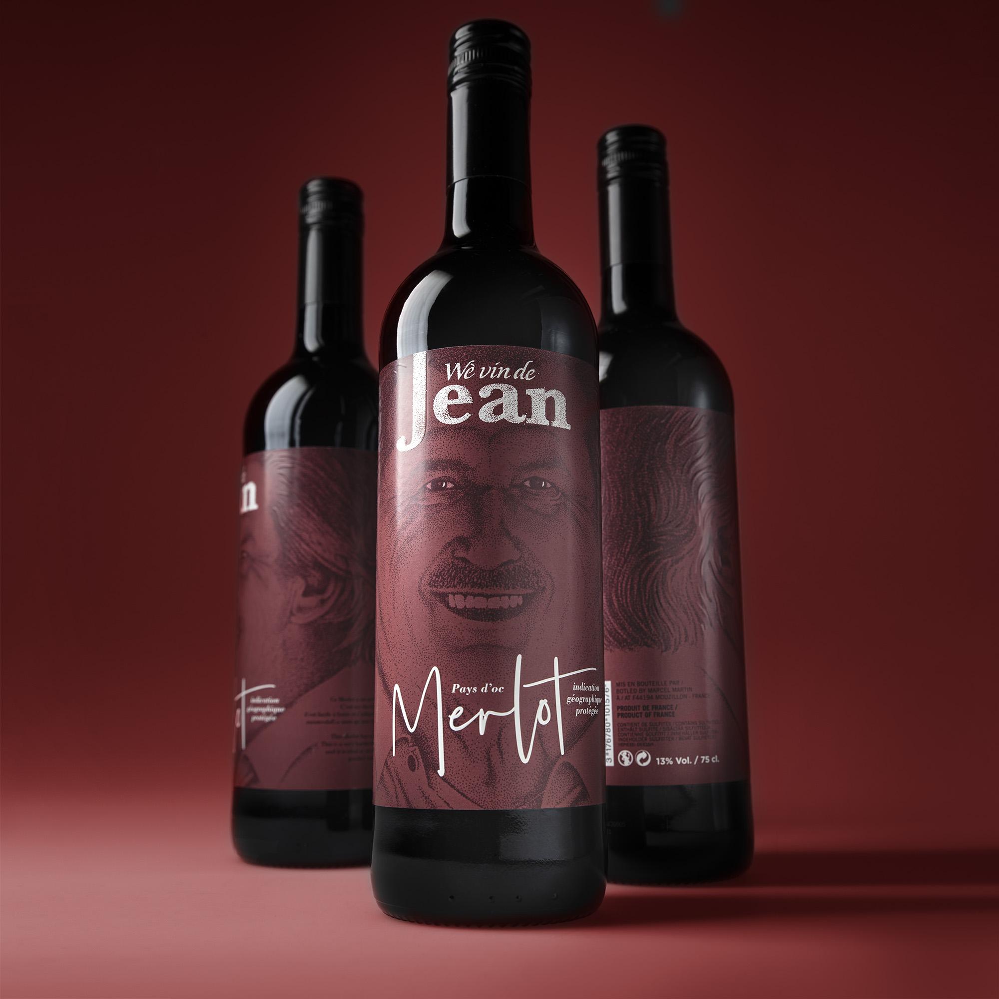 Wè Vin de Jean Wine Packaging Design