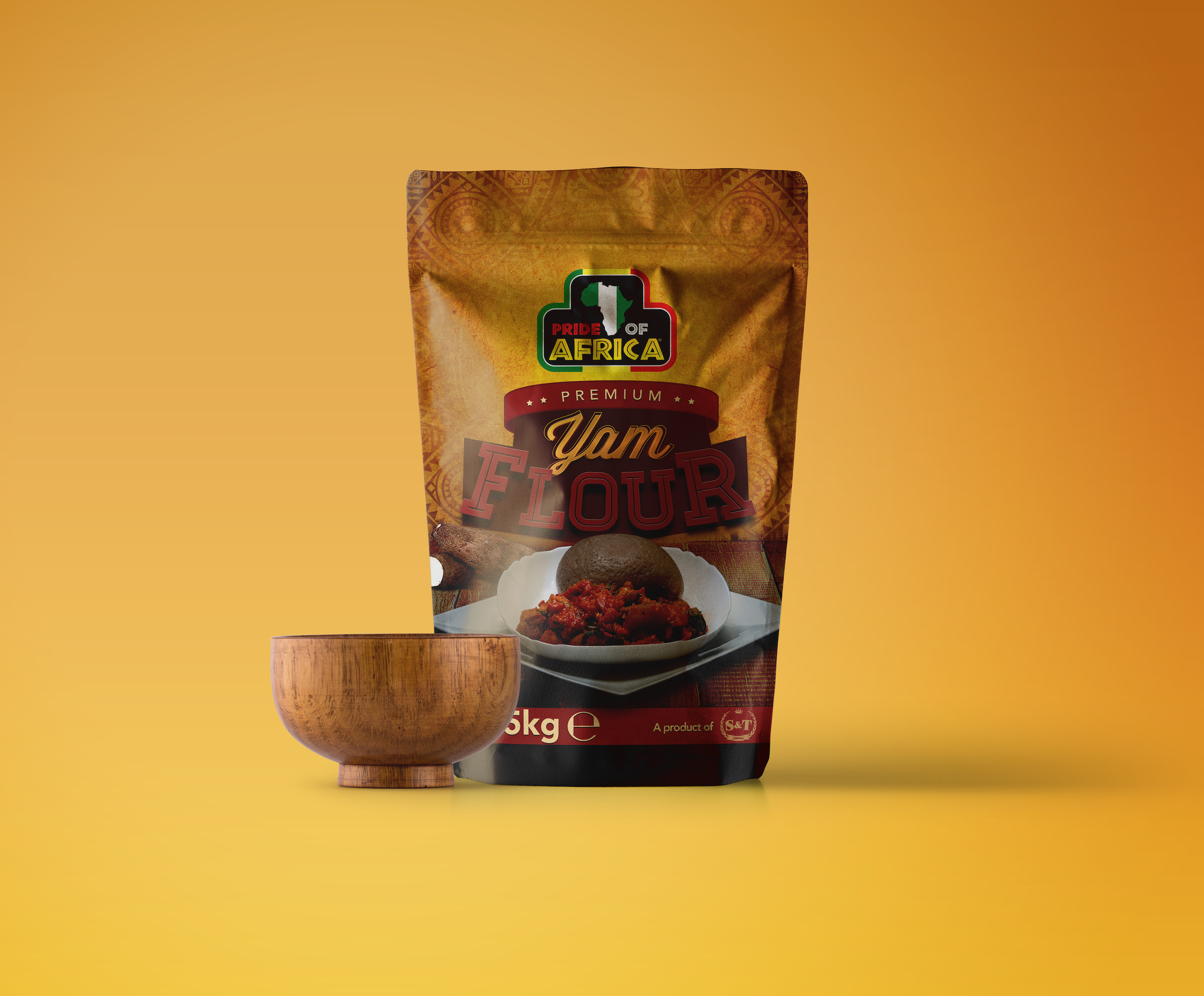 Packaging Design for Pride of Africa Foods, New Premium Food Range