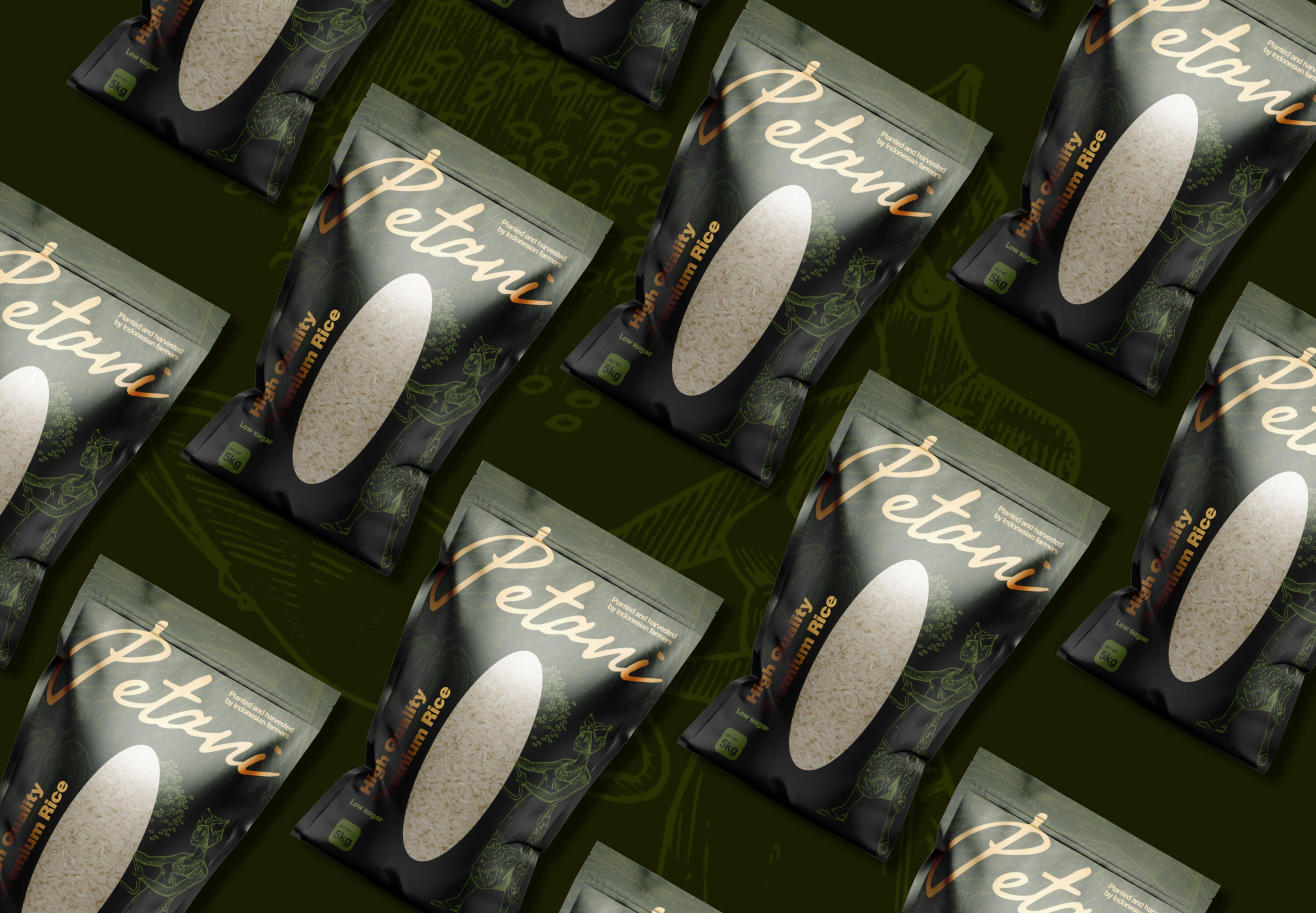 Widarto Impact Creating Packaging Design for Petani, New Premium Rice Brand
