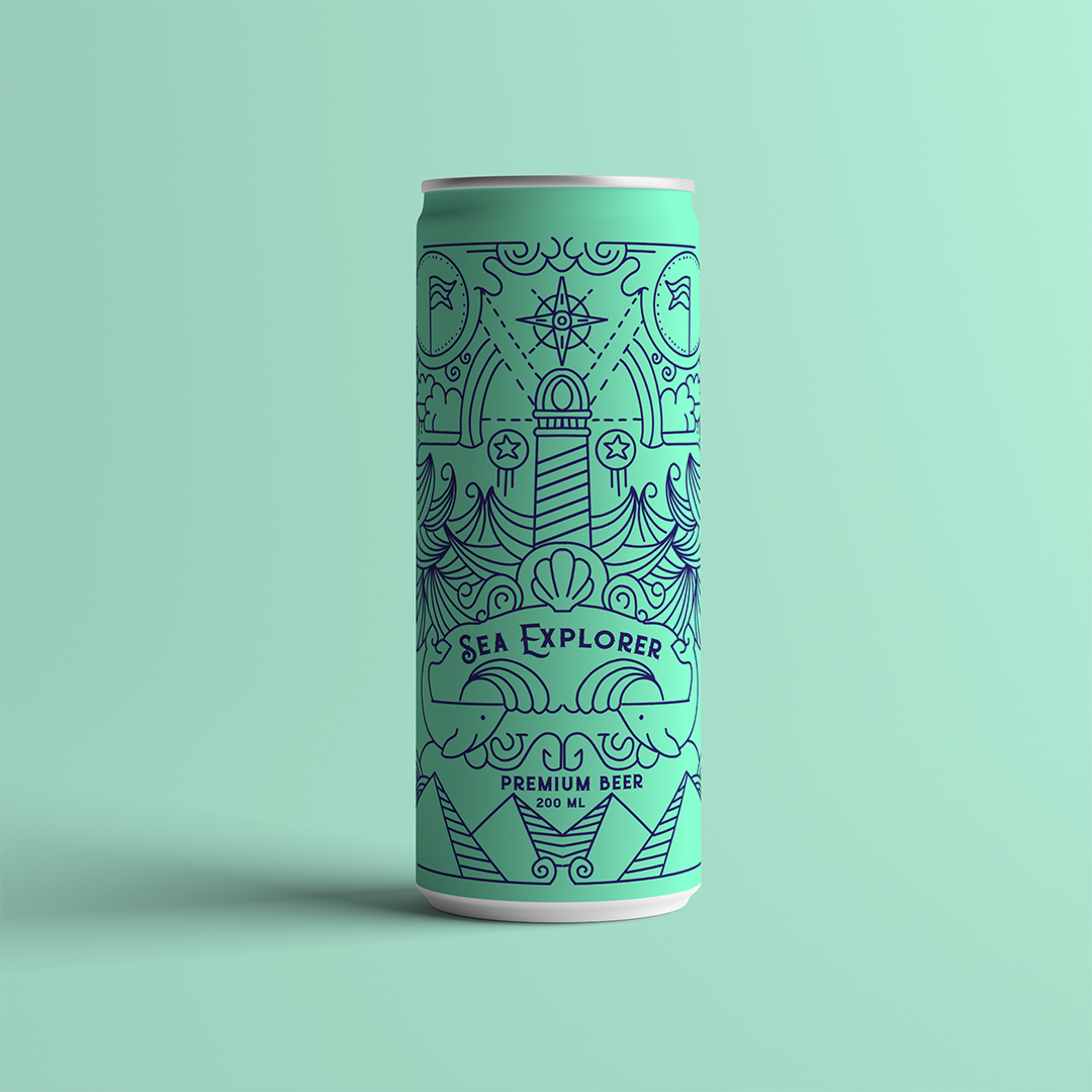 Minimal and Modern Packaging Design Concept for Sea Explorer