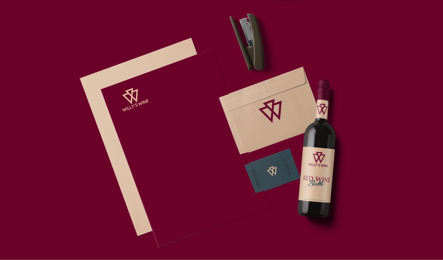 Packaging and Identity Design for Willy's Wine