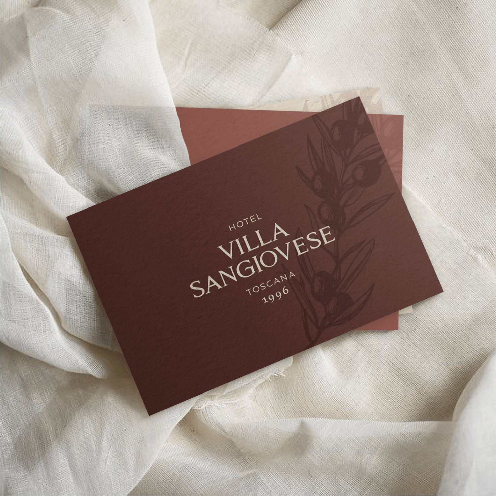Freelance Design Brand Identity for a Luxury Hotel in Tuscany Italy