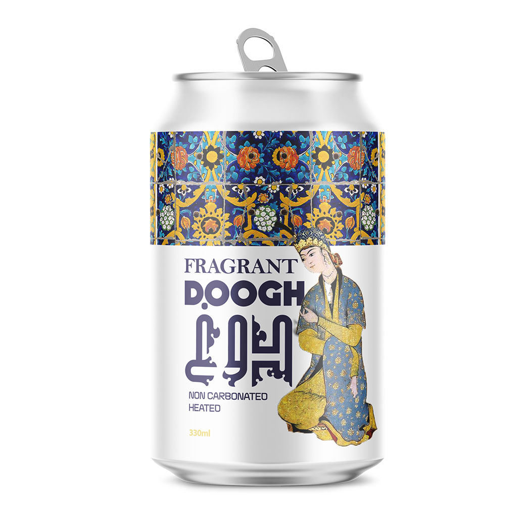 Taha Fakouri creates new Doogh label design, fragrant