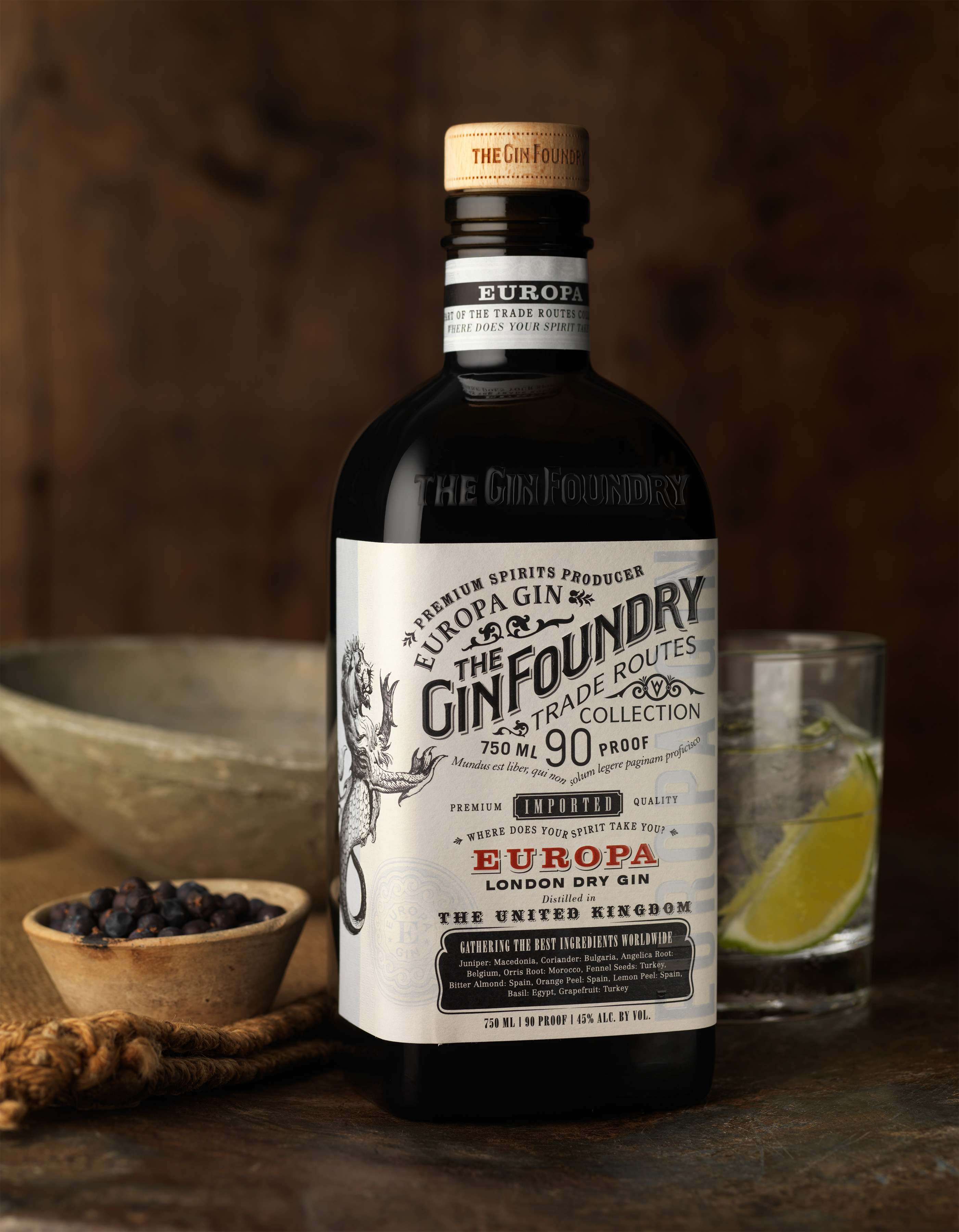 The Gin Foundry Pays Tribute to the History of Trade – CF Napa Brand Design