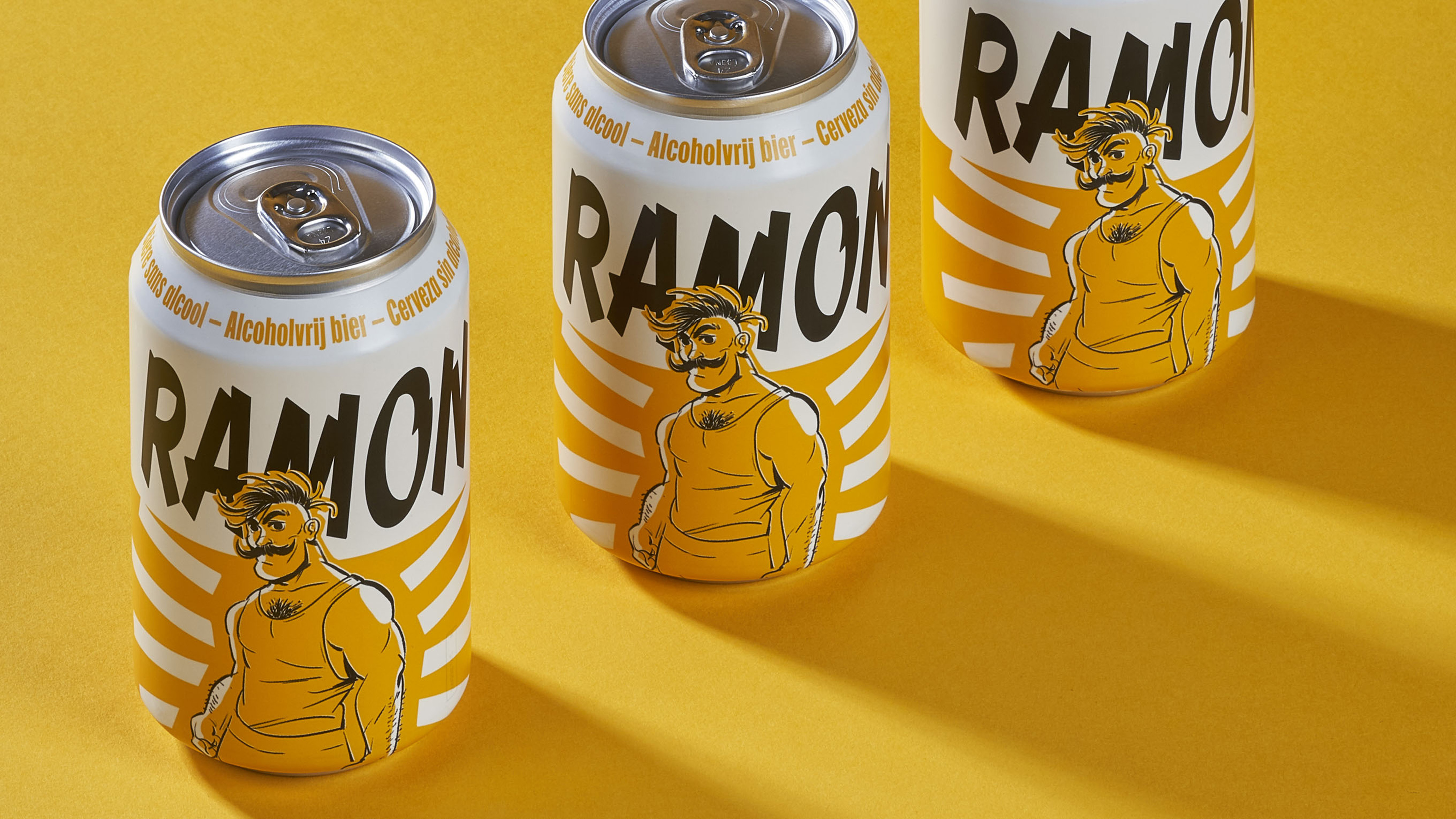 The branding of Ramon, a non-alcoholic beer that ticks all the beer boxes
