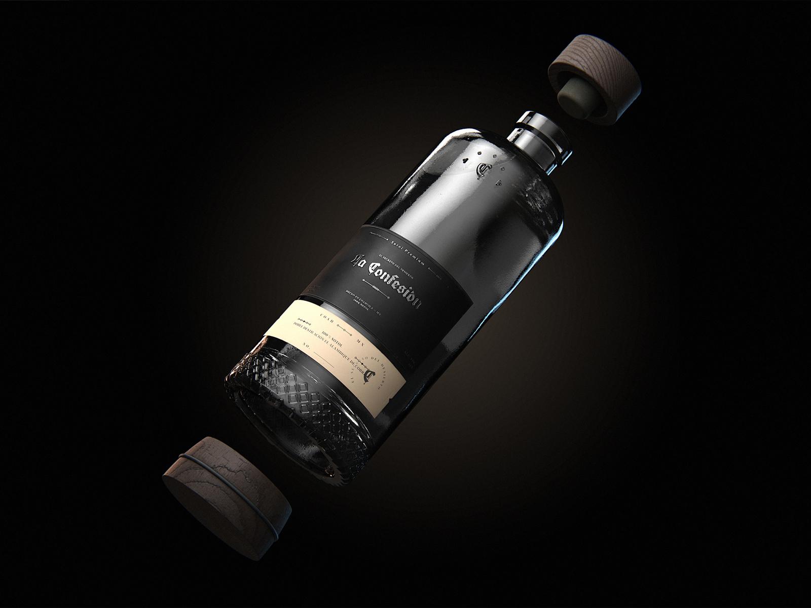 Bottle and Branding Design for La Confesión Premium Sotol