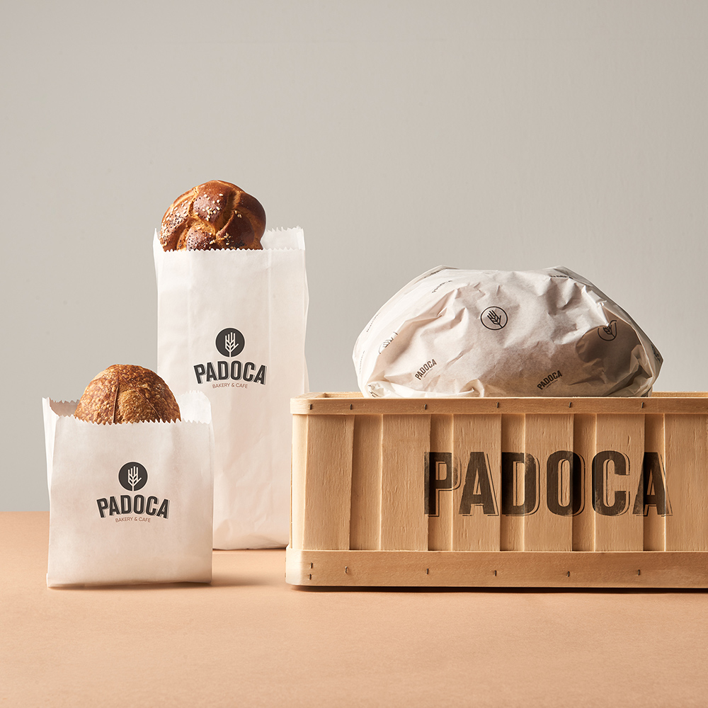 Brand identity and logo design for Padoca Bakery in Istanbul