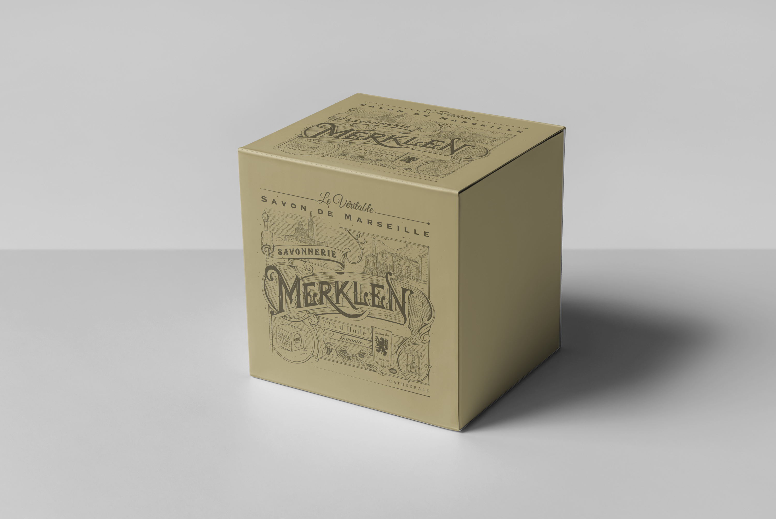 A Vintage design in homage to Marseille soap