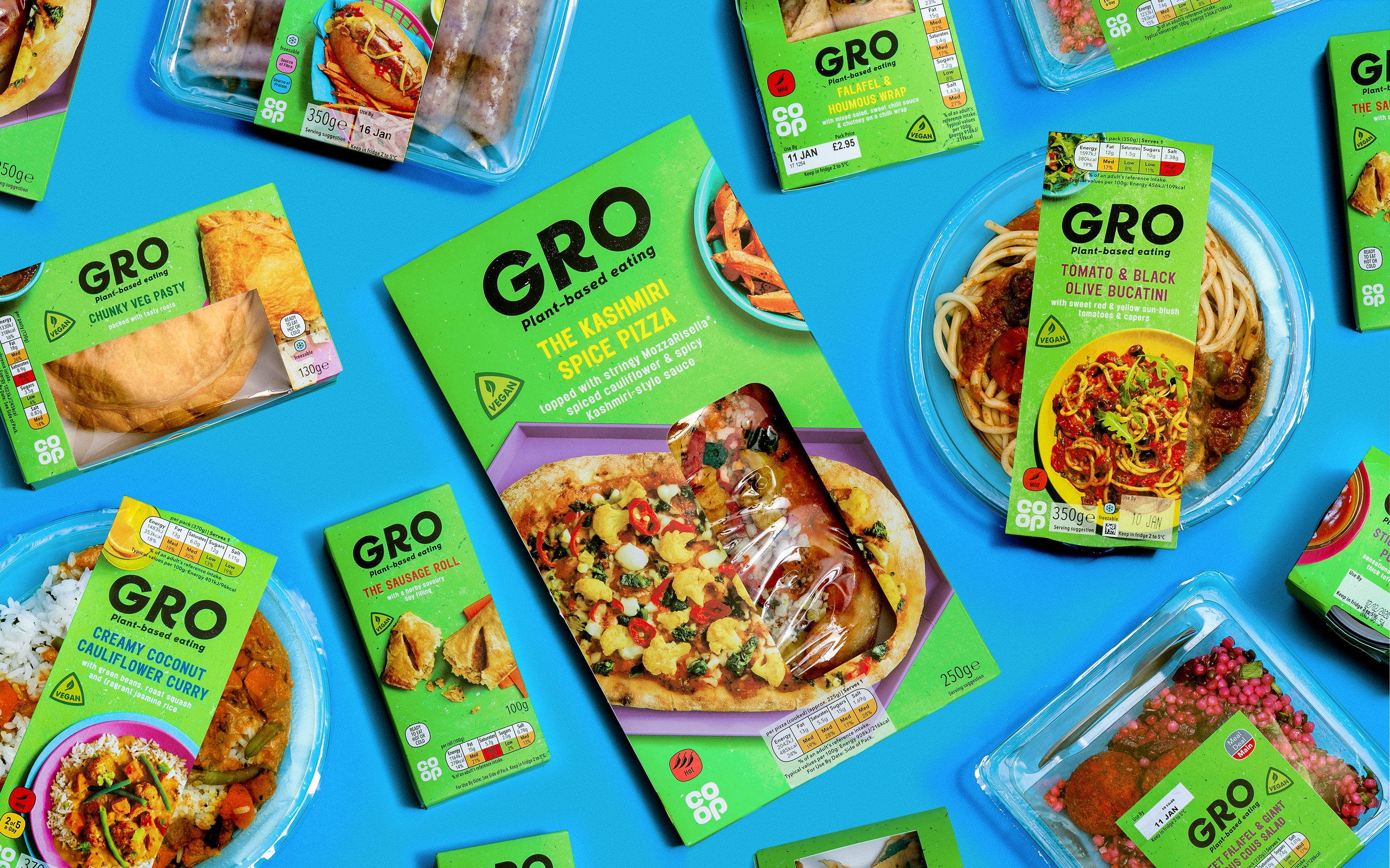 Robot Food create new vegan brand GRO for Co-op