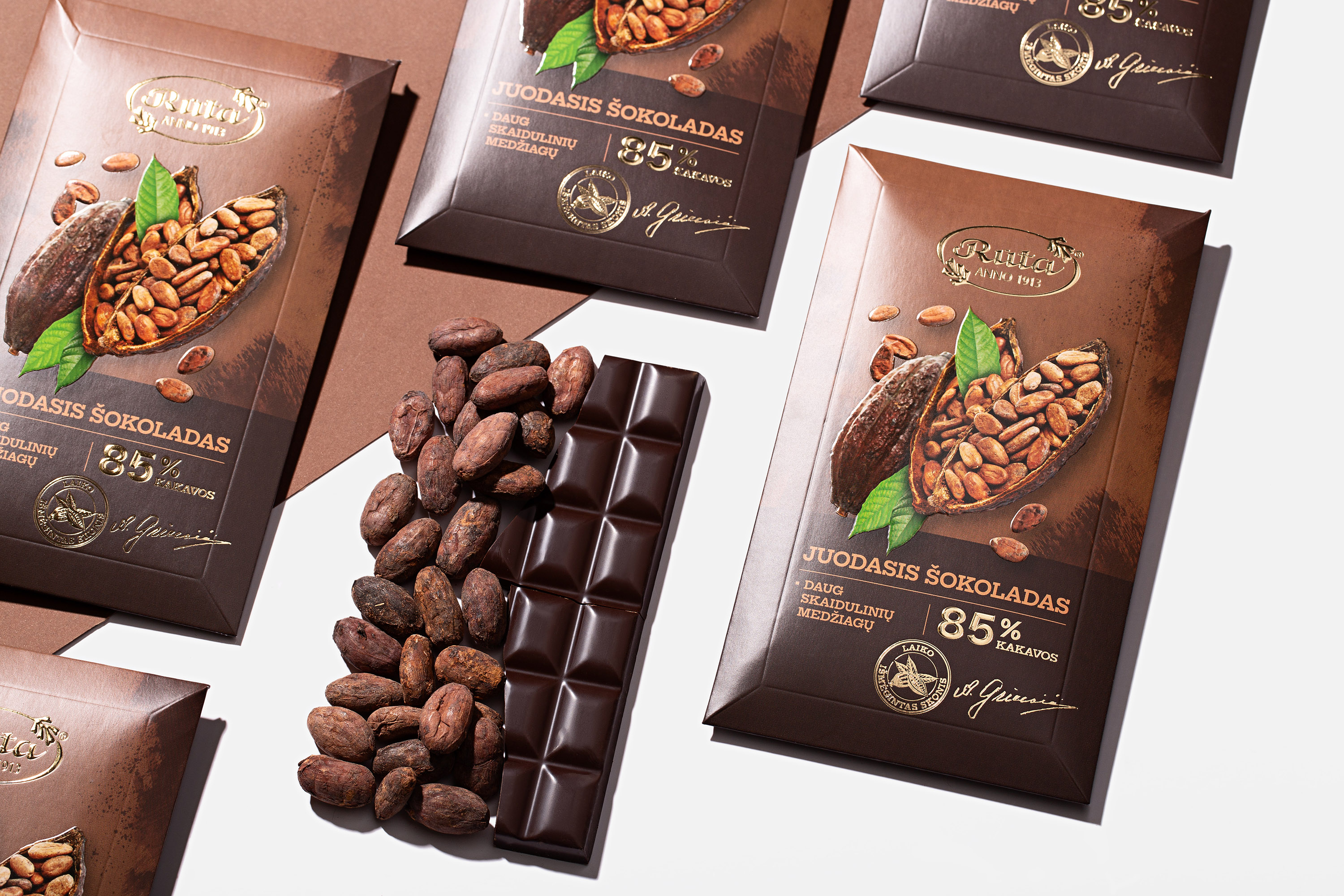 Brand new packaging design project for the confectionery factory Rūta