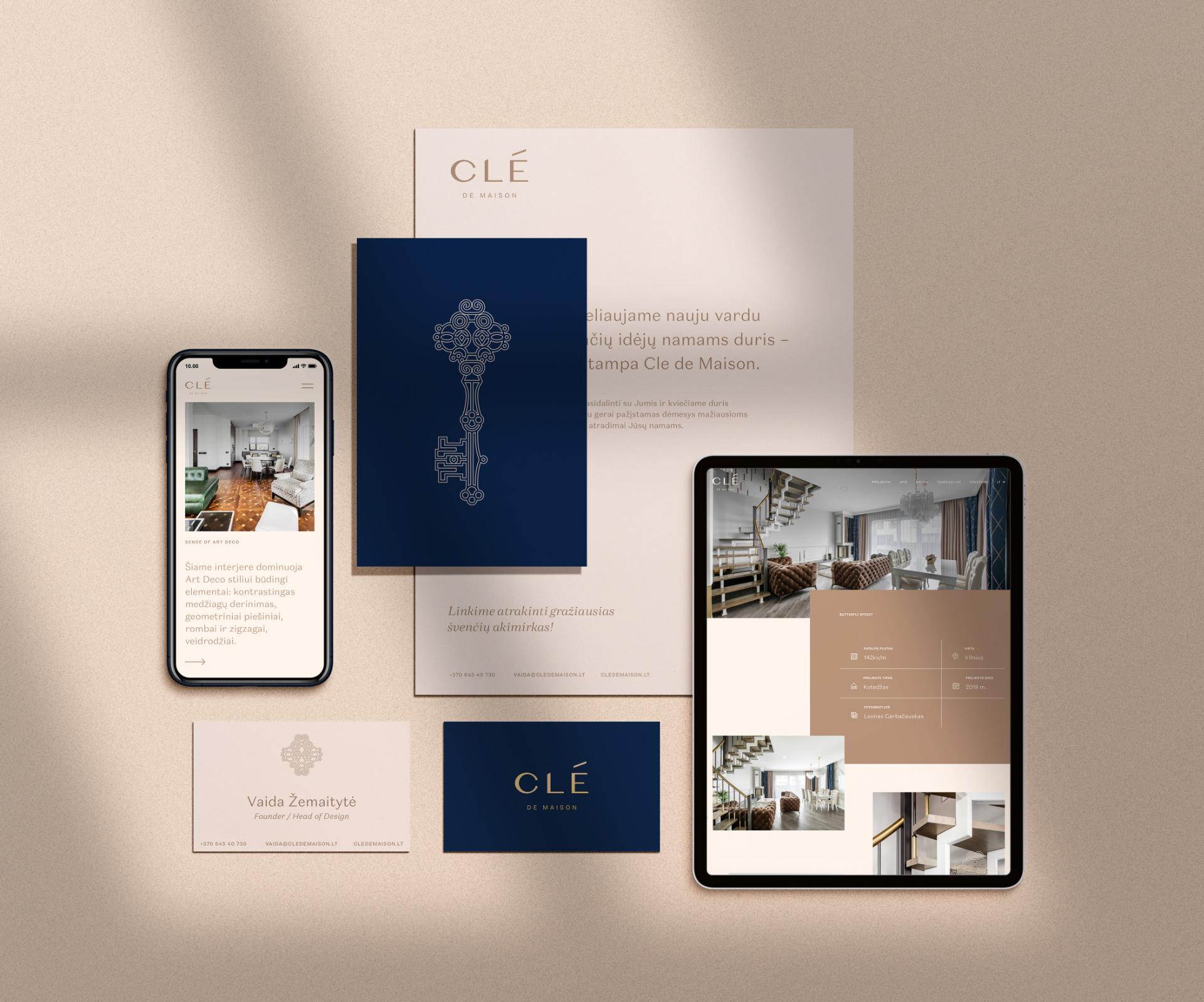 Clé de Maison – luxurious interior design studio branding
