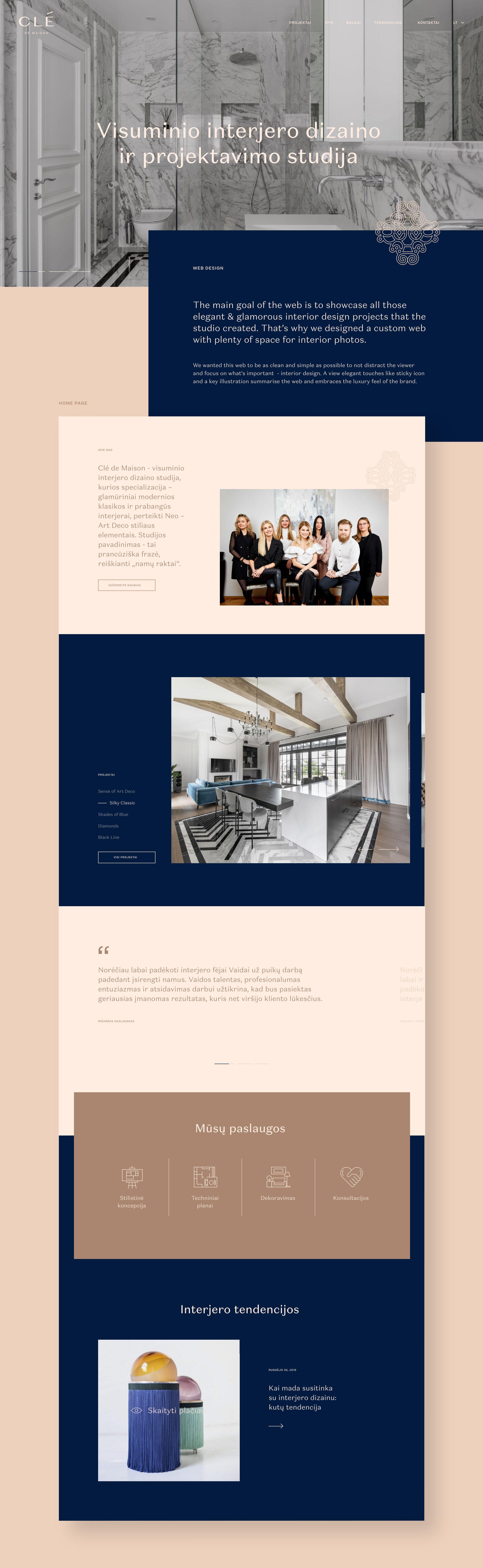 Clé de Maison - luxurious interior design studio branding ...