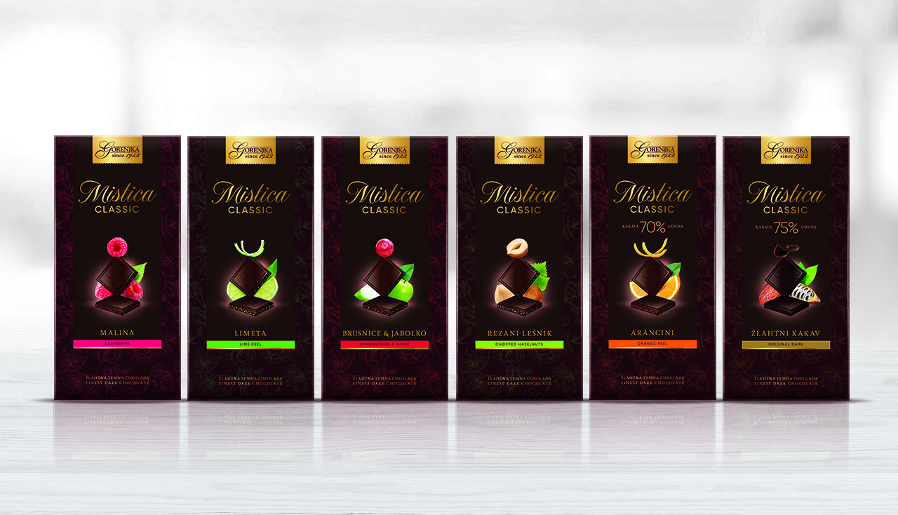 Rebranding of Mistica Chocolate