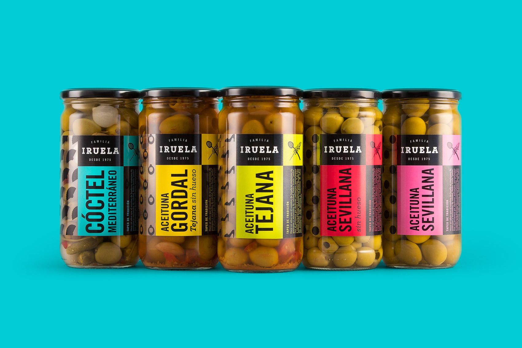 Vebranding designs the packaging for spanish olives Iruela