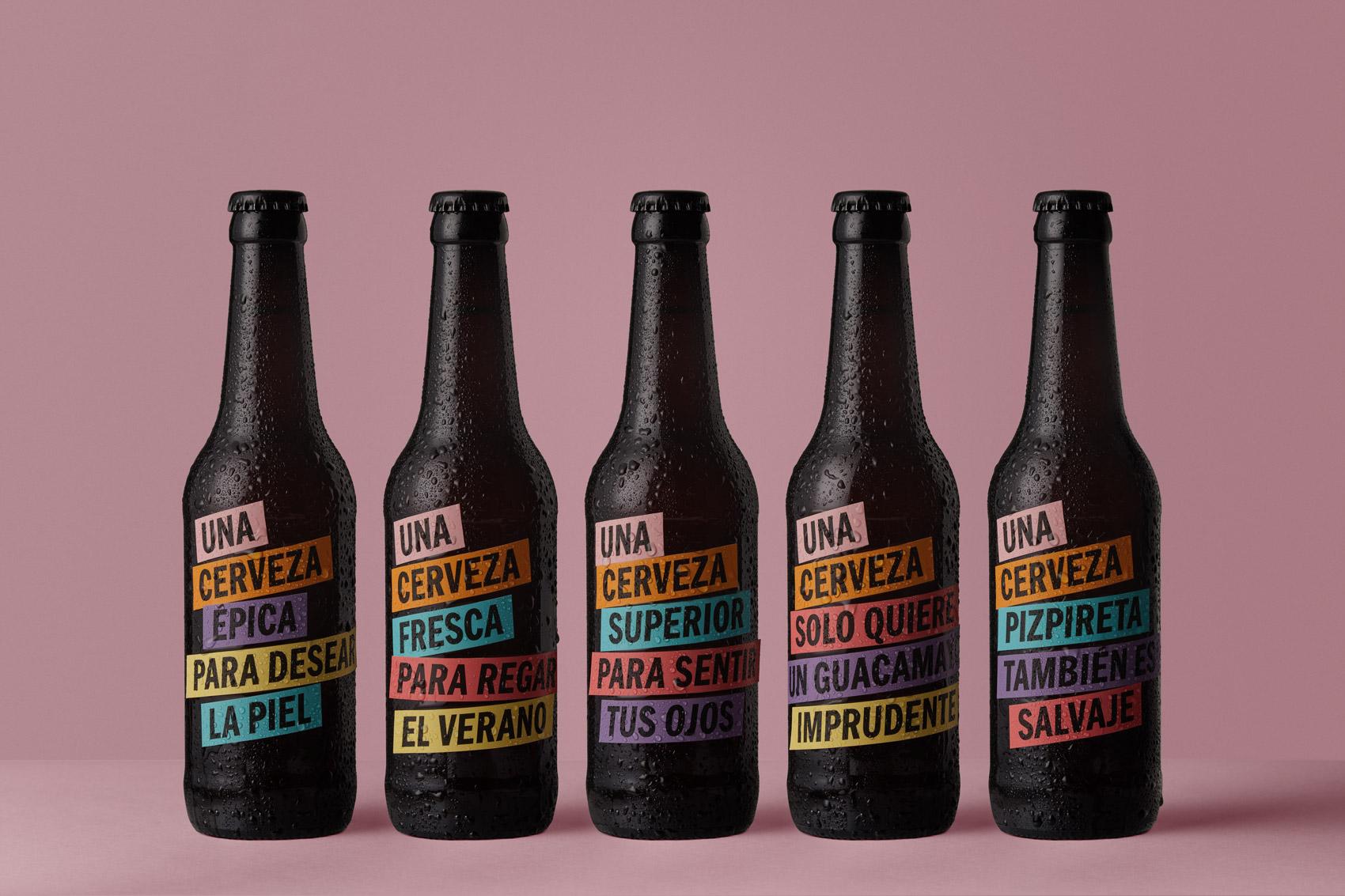 """Vibranding designs """"Una Cerveza que baila con el universo salvaje"""""""