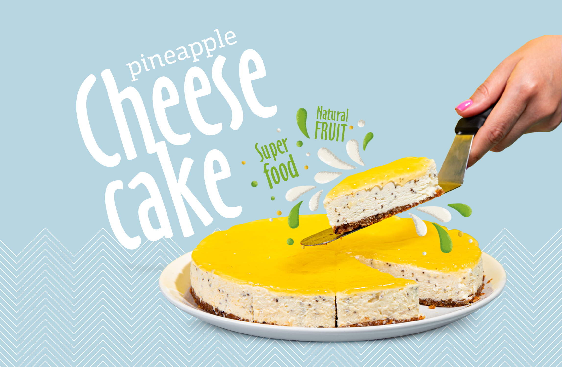 Design Department Create the Consept of Natural Cheesecakes