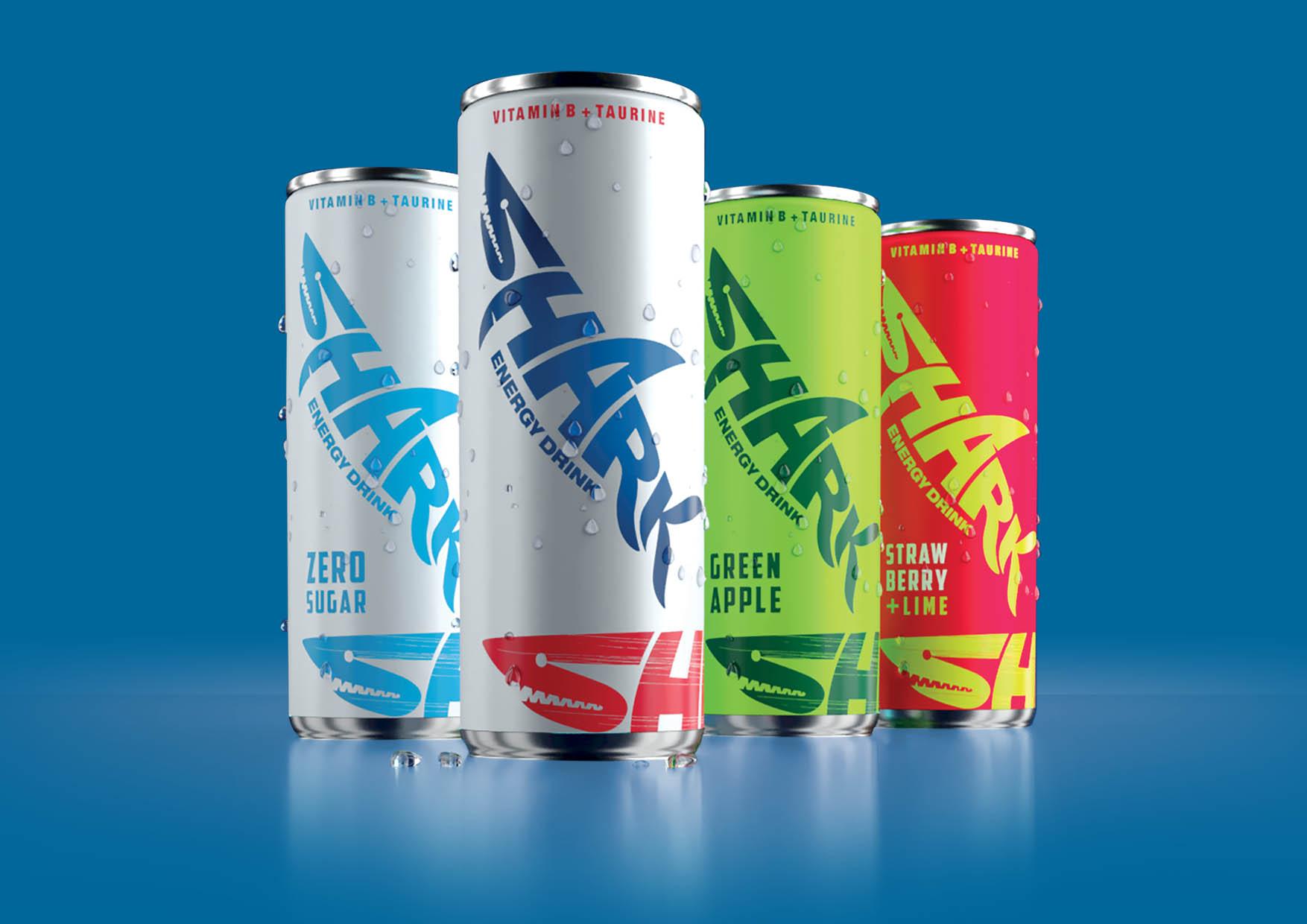 Shark Energydring Worlwide Rebranding