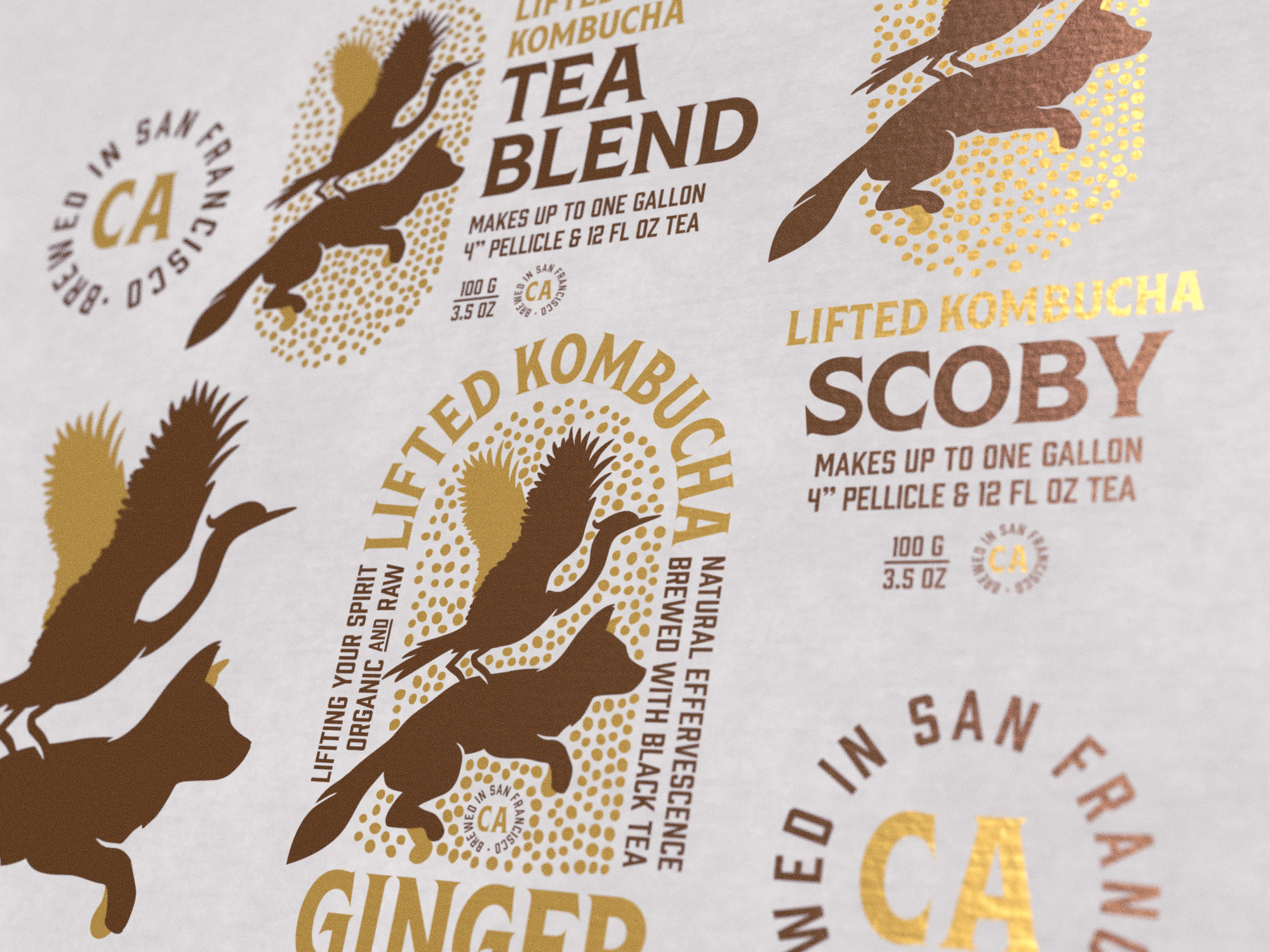 New Conceptual Kombucha Packaging: Lifted Kombucha
