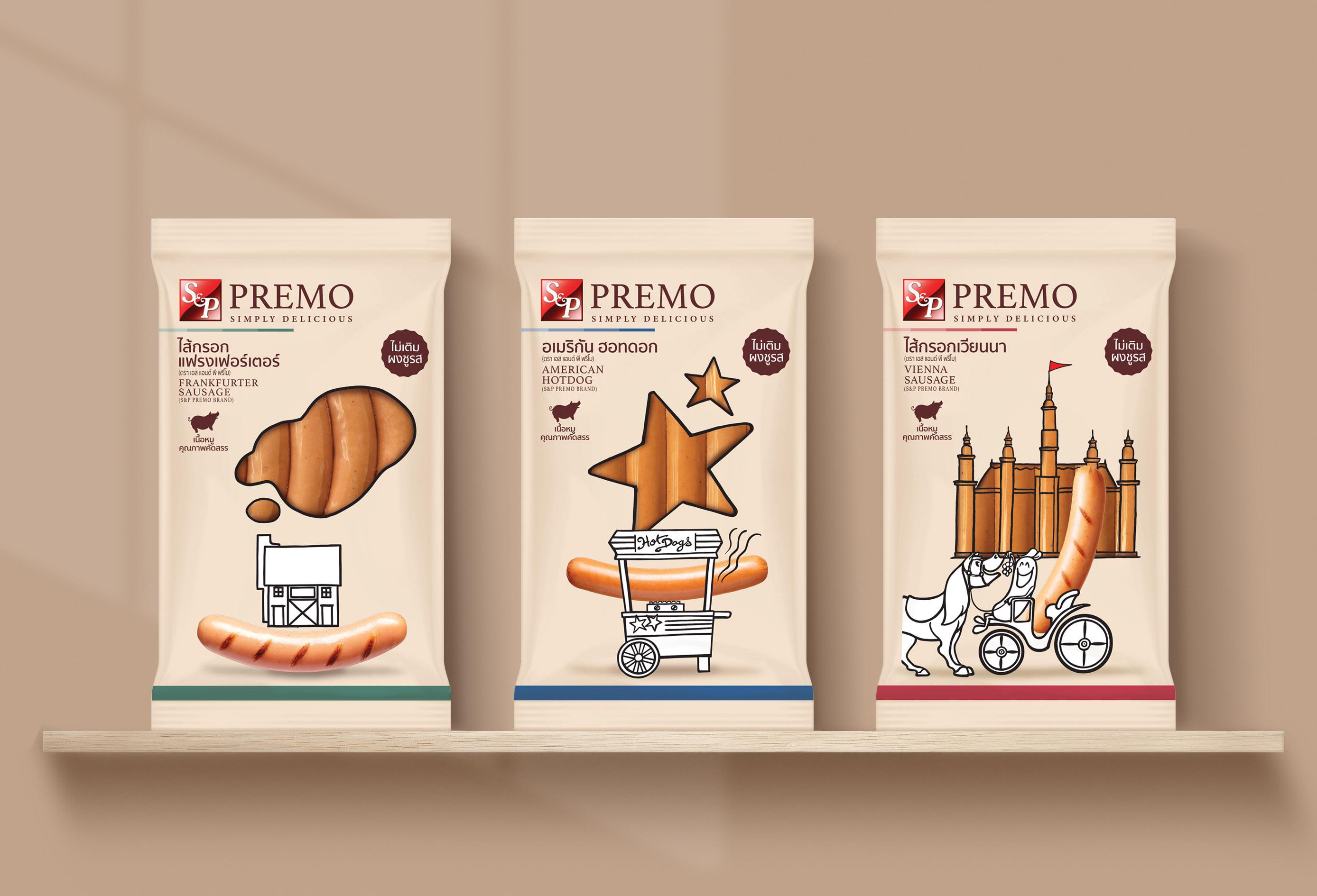 New PREMO Sausage Packaging Design