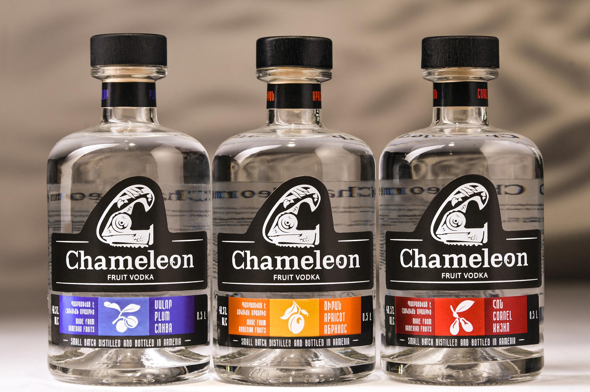 Chameleon Fruit Vodka Branding