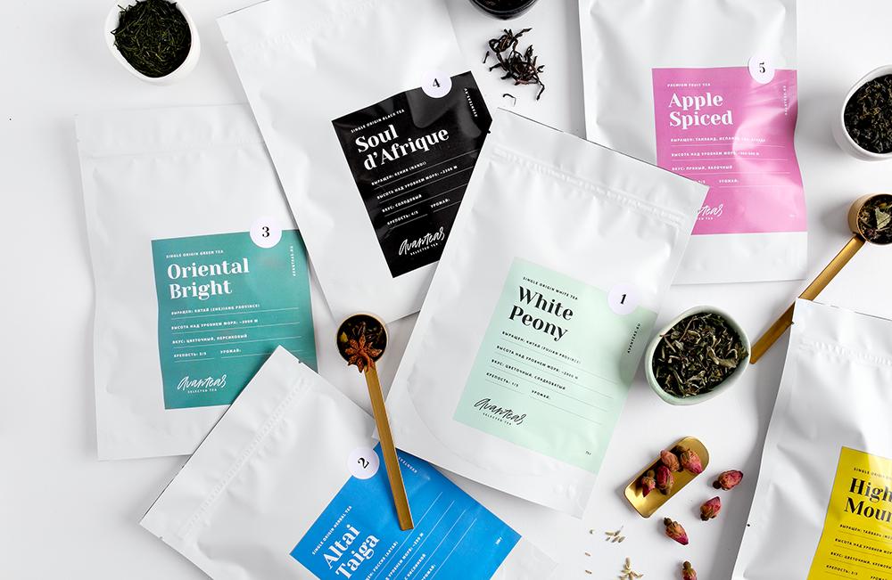 A Minimalistic Packaging for a Russian Tea Company Avanteas