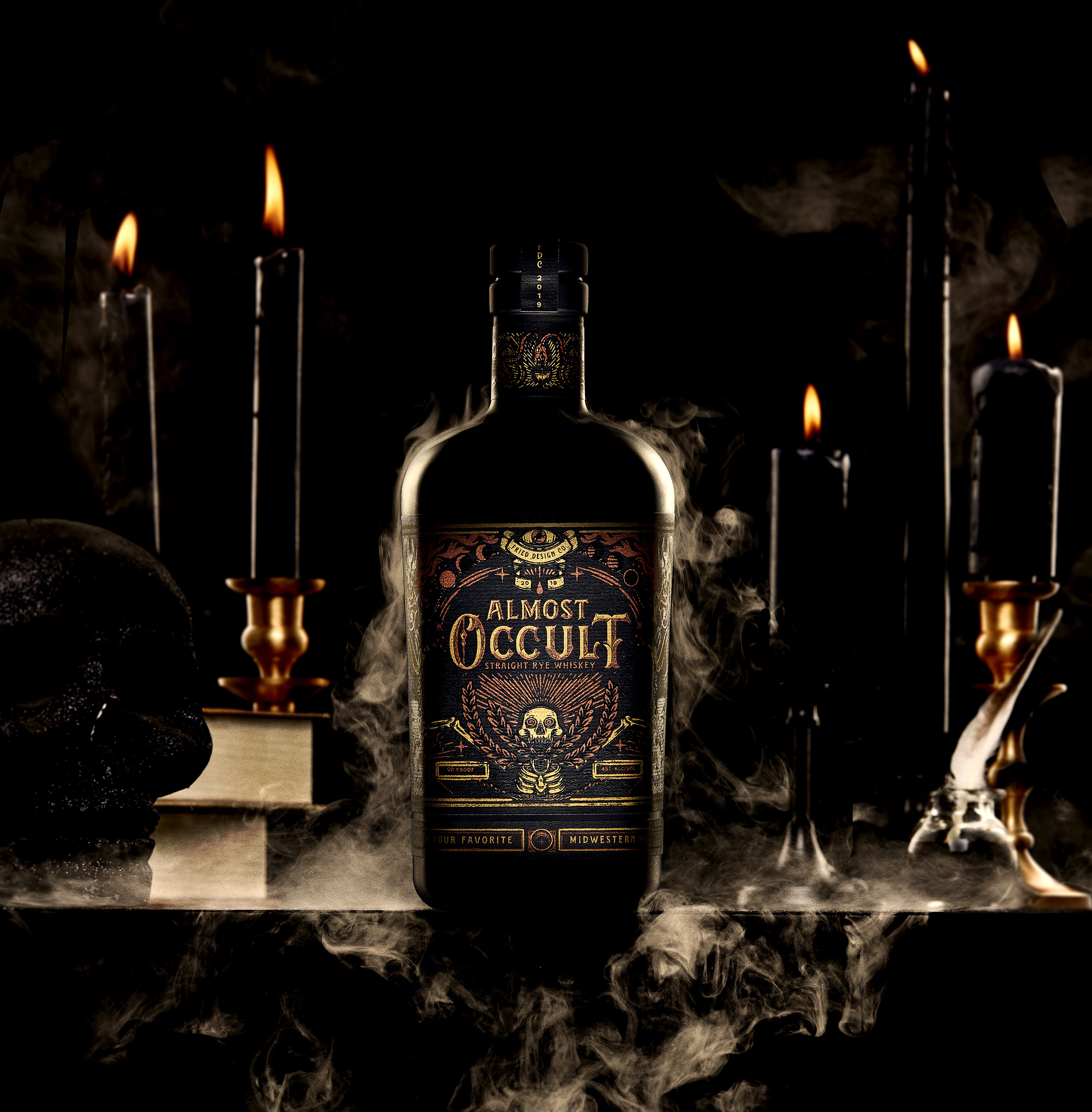 Fried Design Company Gets in the Spirit With Almost Occult Rye Whiskey Holiday Gift