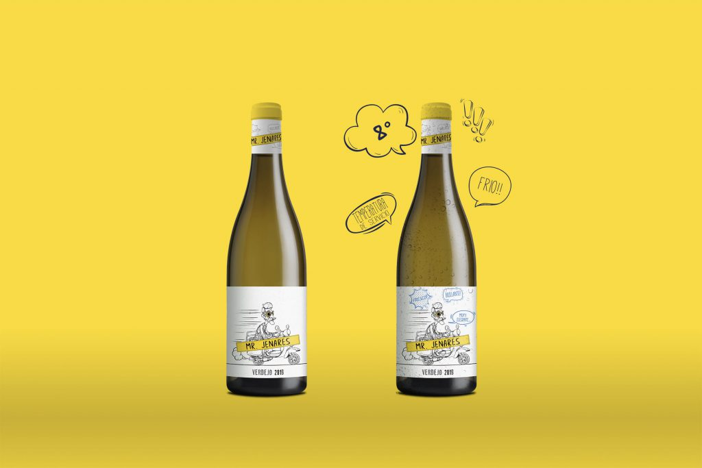 Packaging White Wine Verdejo Mr. Jenares