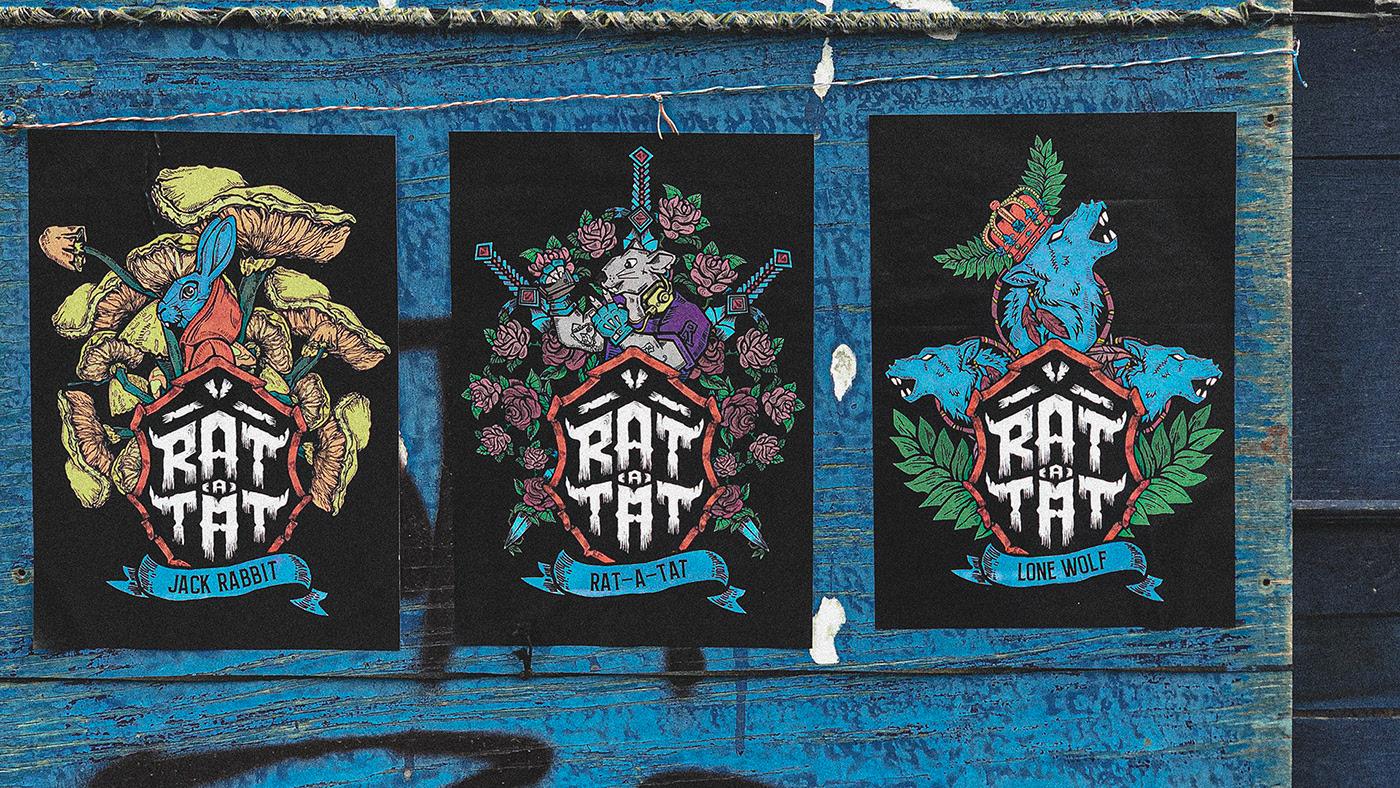 """Digital Factory Creates New Tattoo Salon Branding  """"Rat-A-Tat"""""""