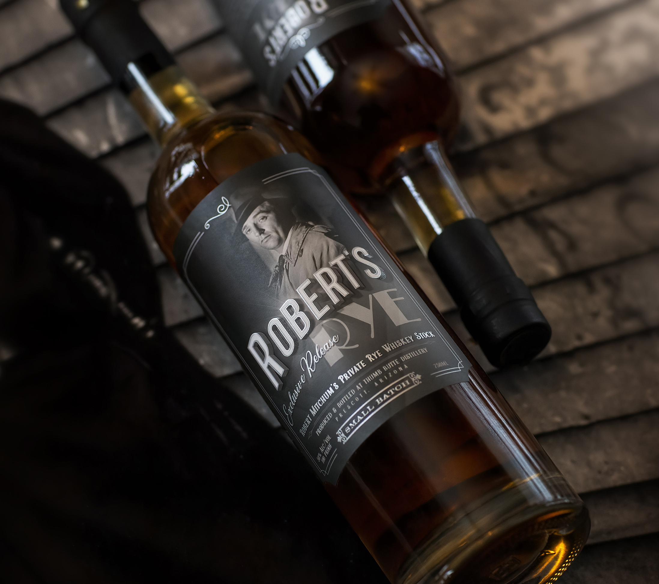 Maverick Design Designs New Label for Robert's Rye Whiskey for Thumb Butte Distillery