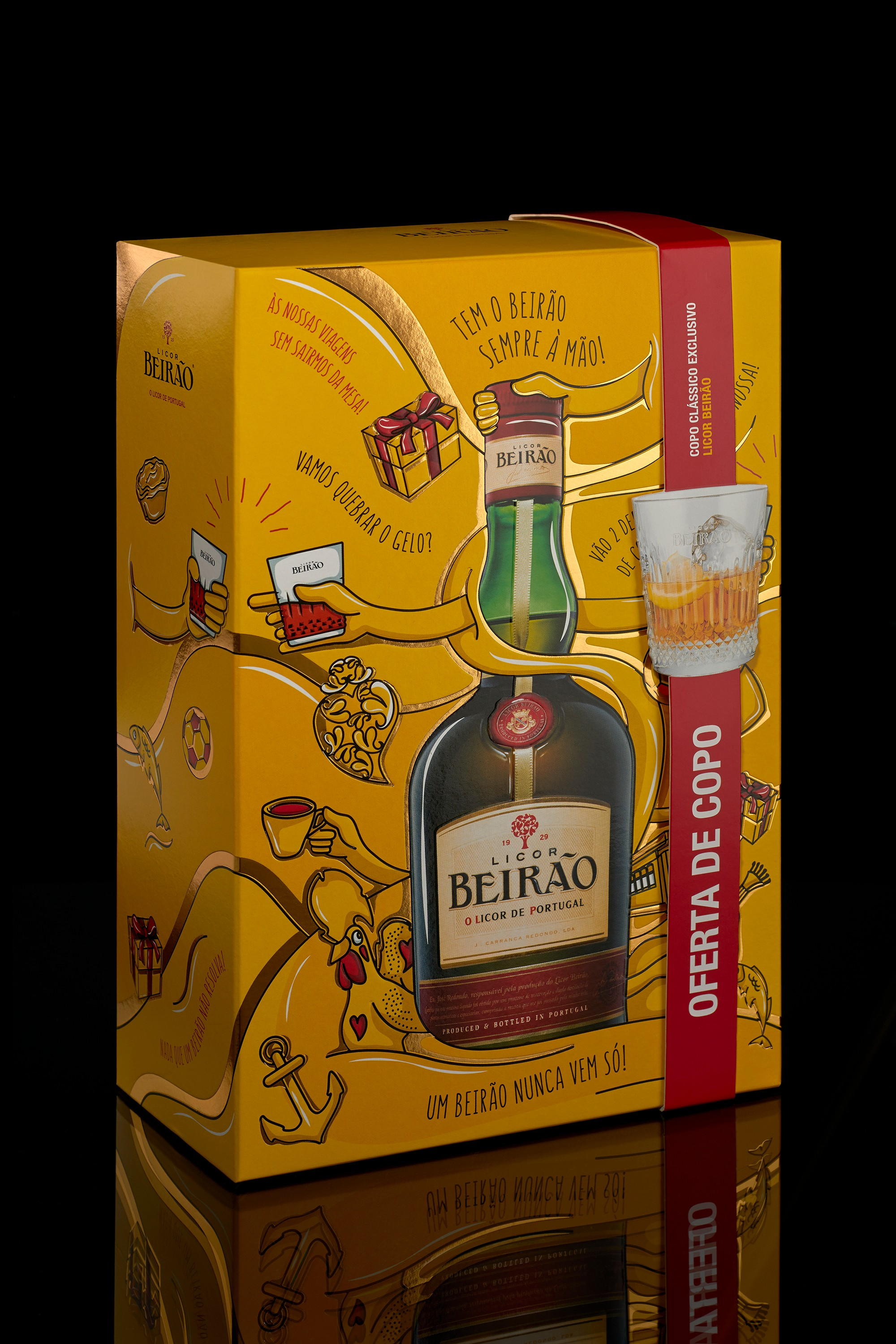 The Portuguese Feeling of Licor Beirão Illustrated by Omdesign