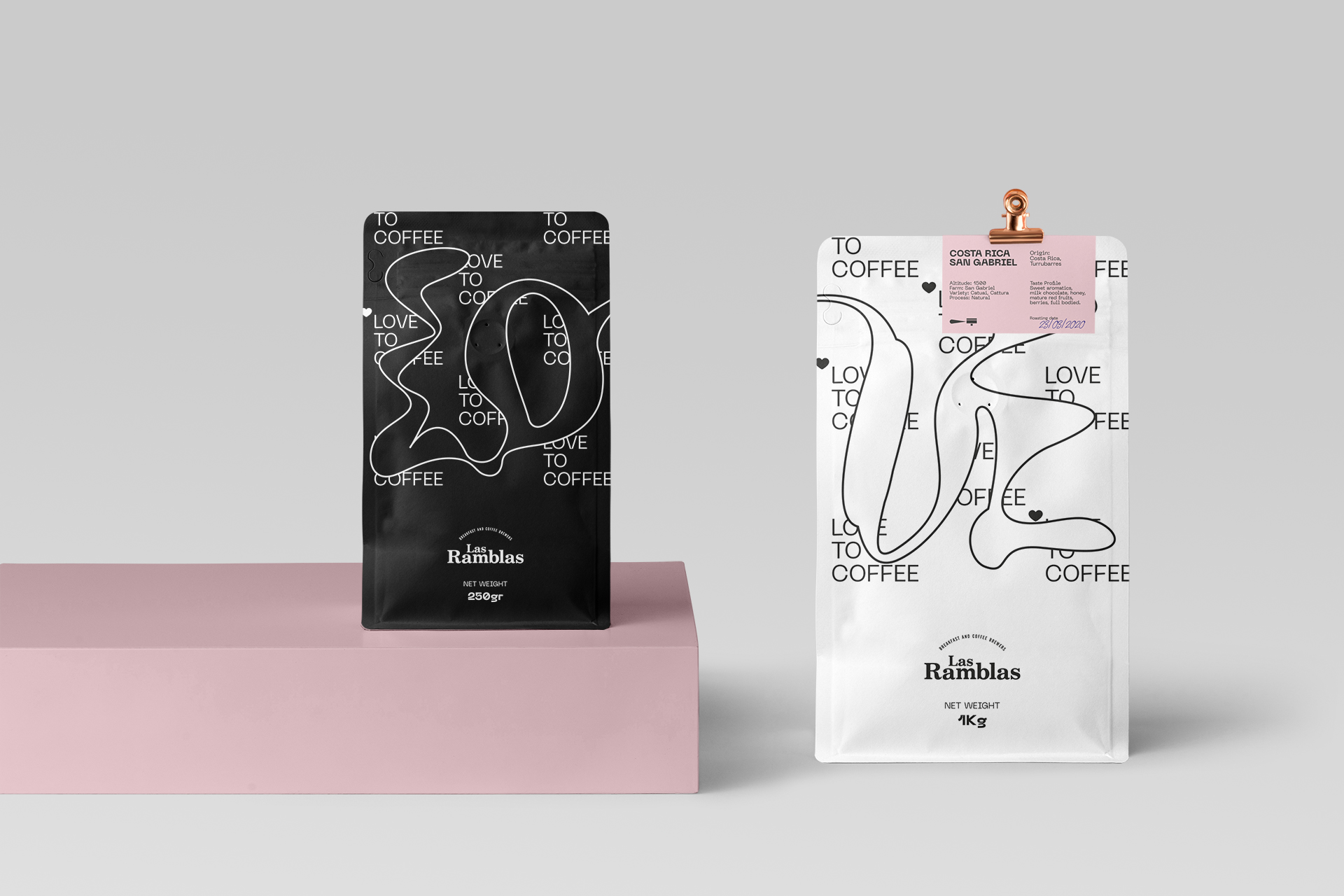 Coffee Bags Packaging Design for Las Ramblas Breakfast and Coffee Brewers