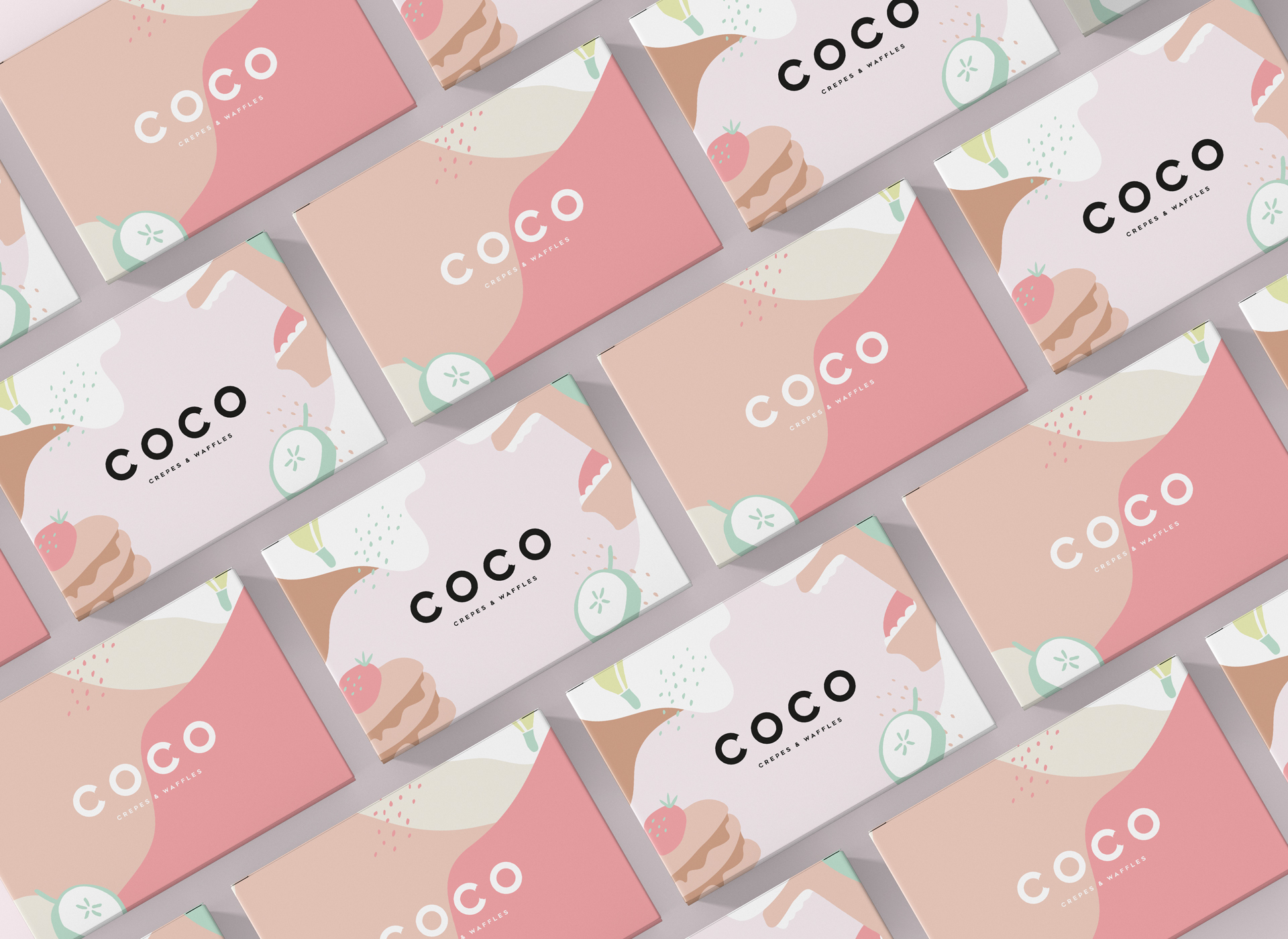 COCO Crepes & Waffles – Branding and Packaging Design