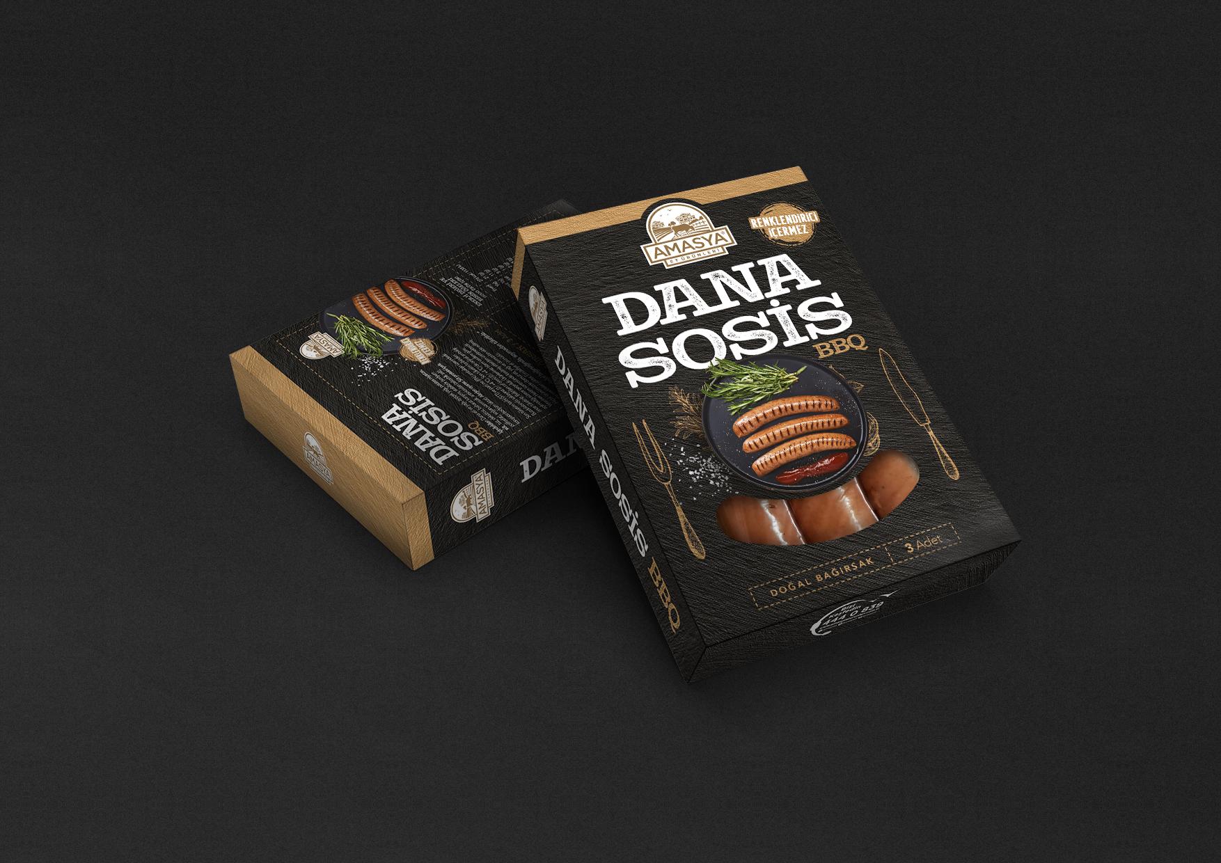 Amasya Et BBQ Sausage Package Design