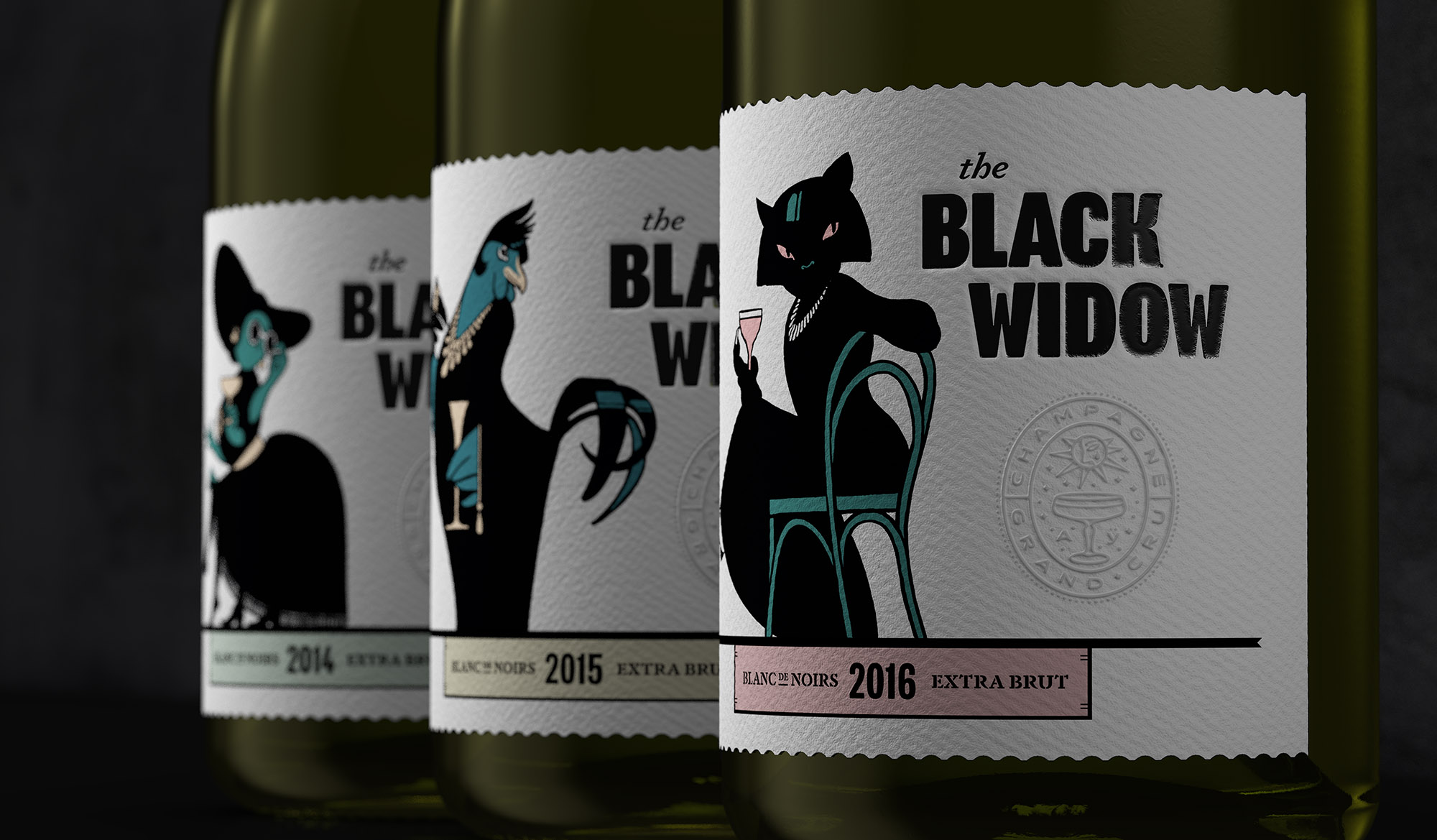 "Studio Kempen Creates Cheeky Craft Champagne ""The Black Widow"""