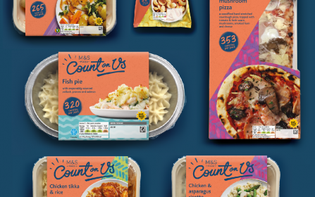 News: Elmwood's Emotional Re-brand Reinvigorates M&s' Count on Us Low Calorie Range