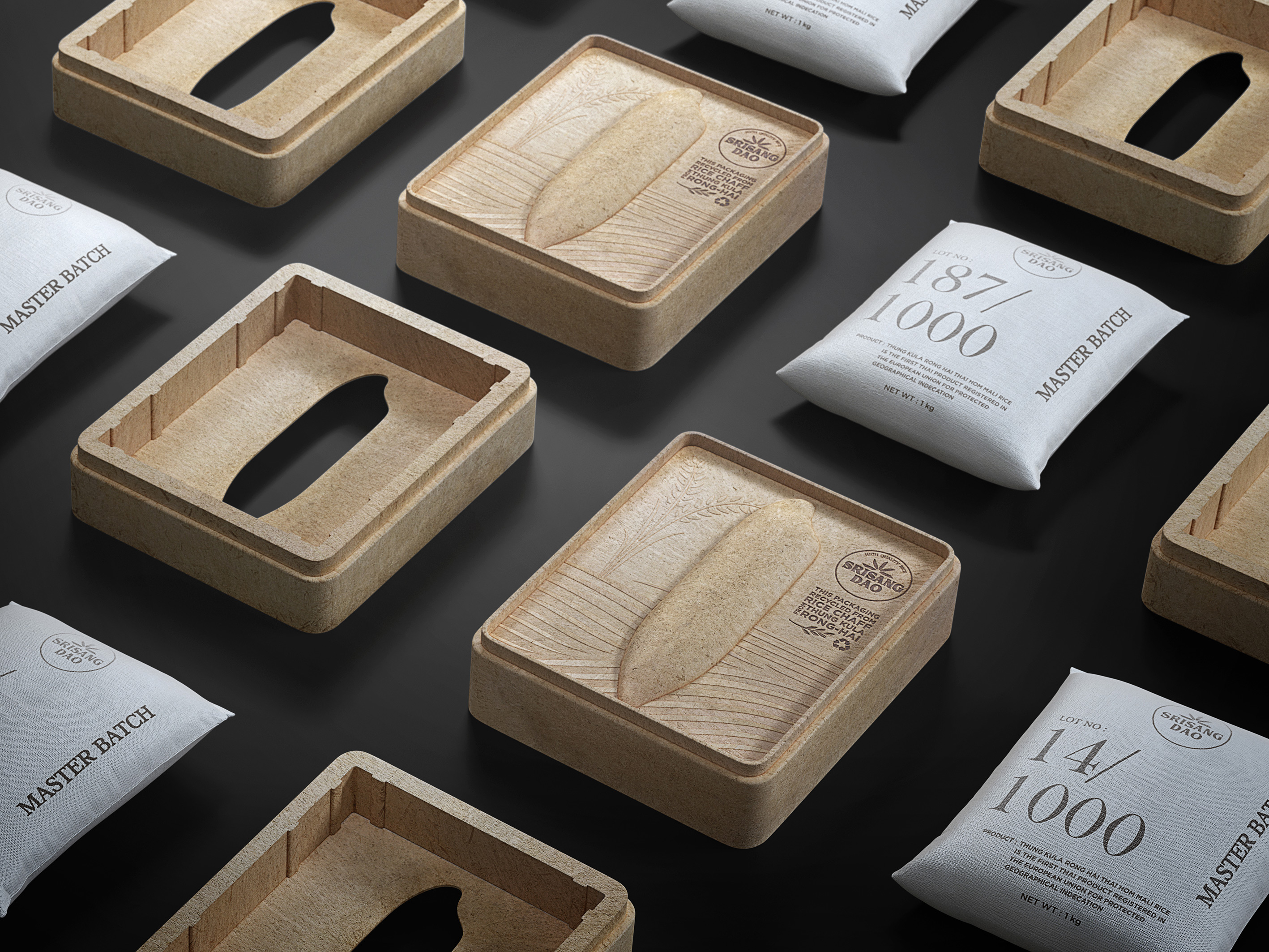 Packaging Recycled from Rice Chaff